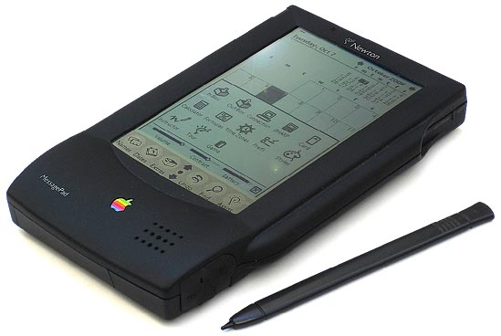 An original Newton MessagePad circa 1993.