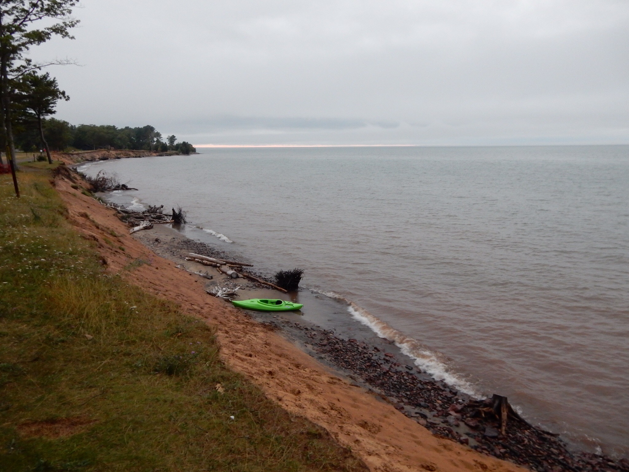 Gloomy Lake Superior from McLain State Park