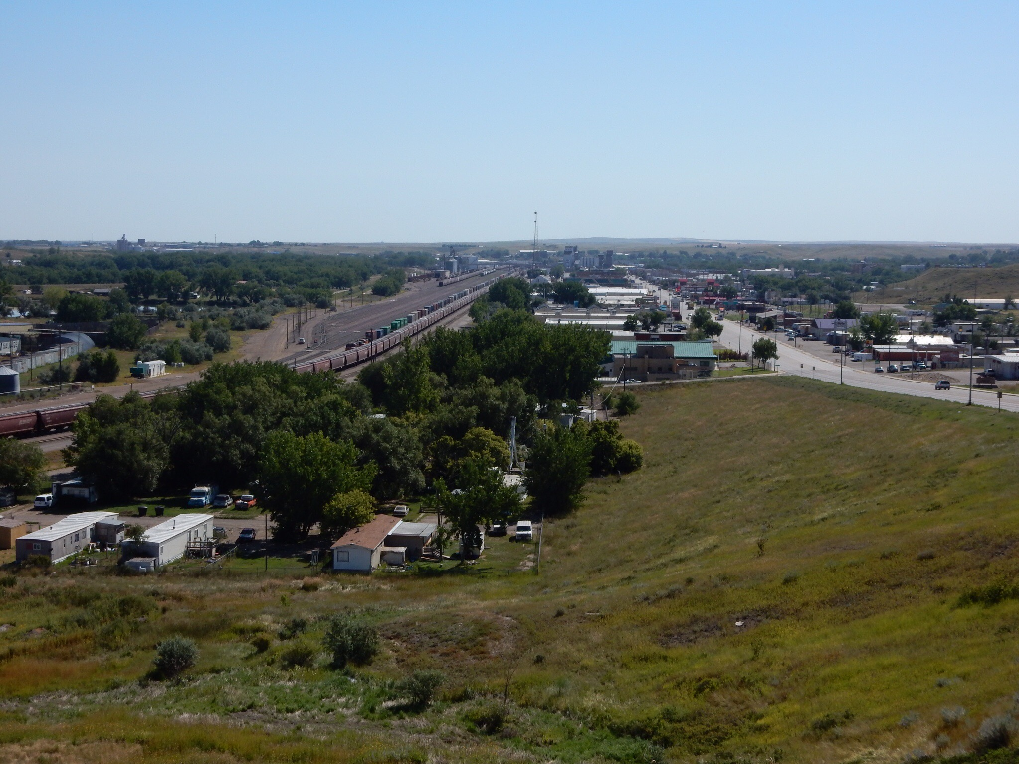 Havre, Montana from the bluff on the west end of downtown.