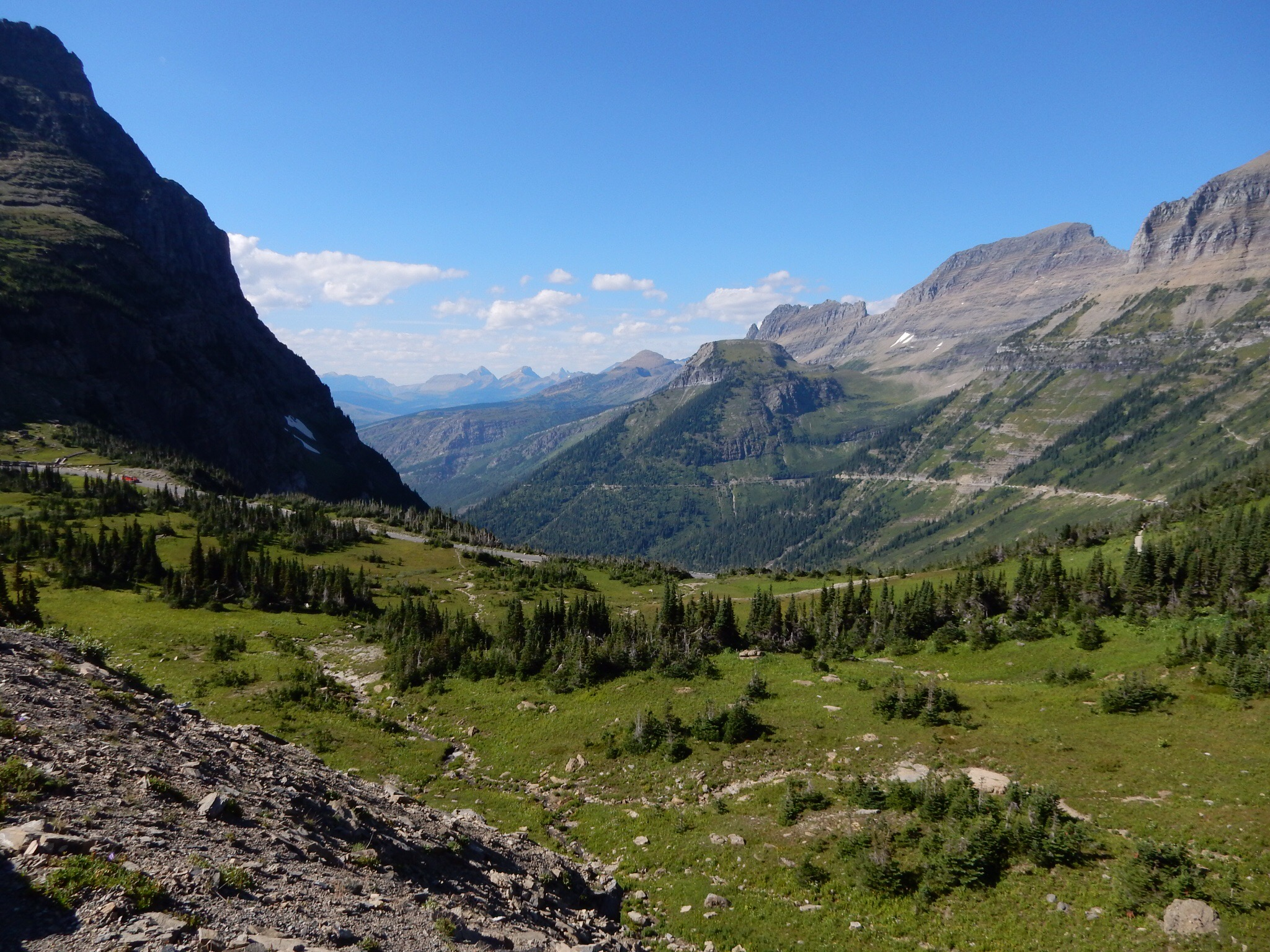 The money-shot view just west of the visitor center in Glacier NP.