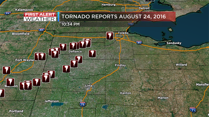 The icon to the upper left is the tornado we dodged in Toledo.