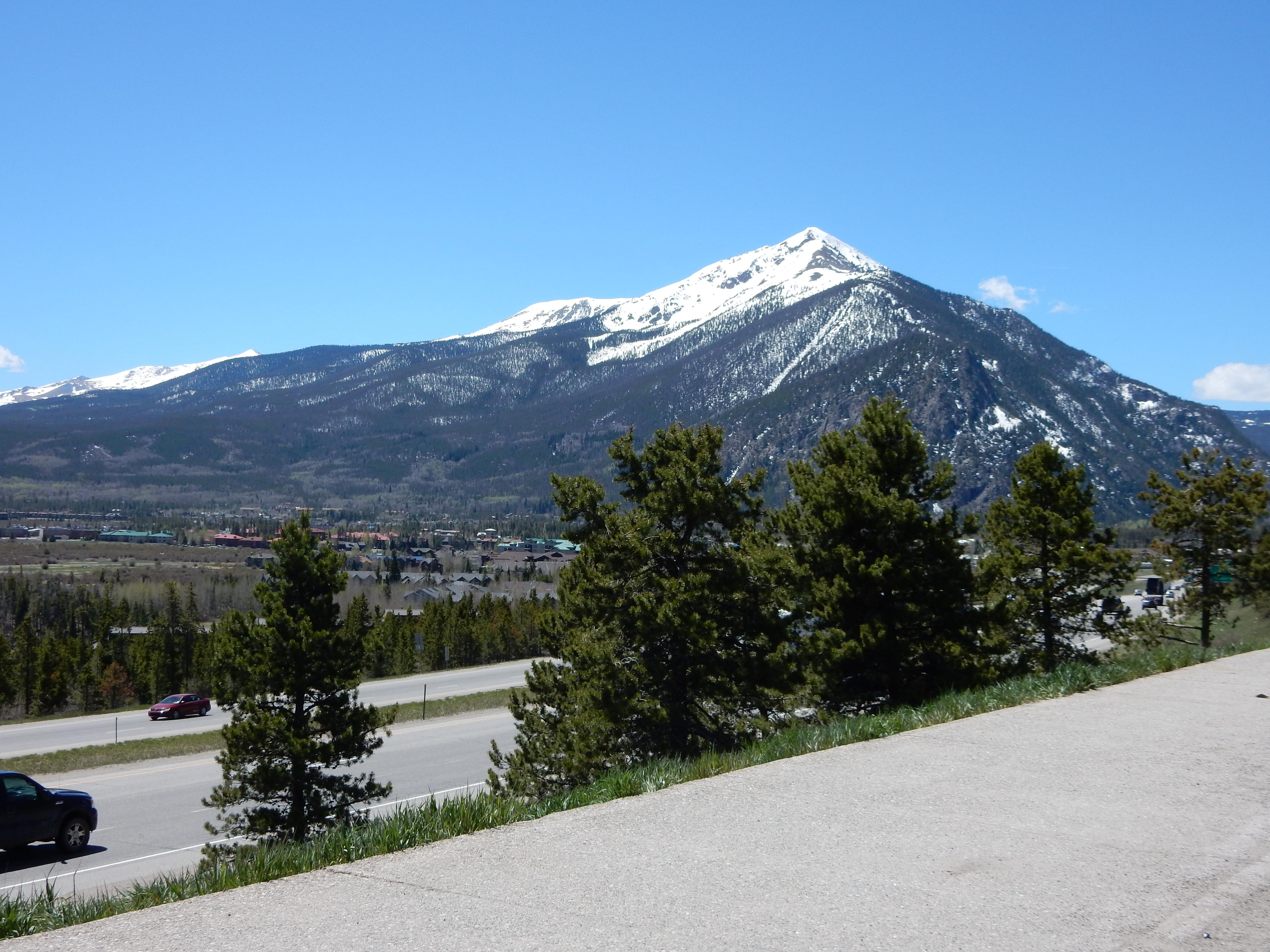 A mountain west of Frisco, CO.