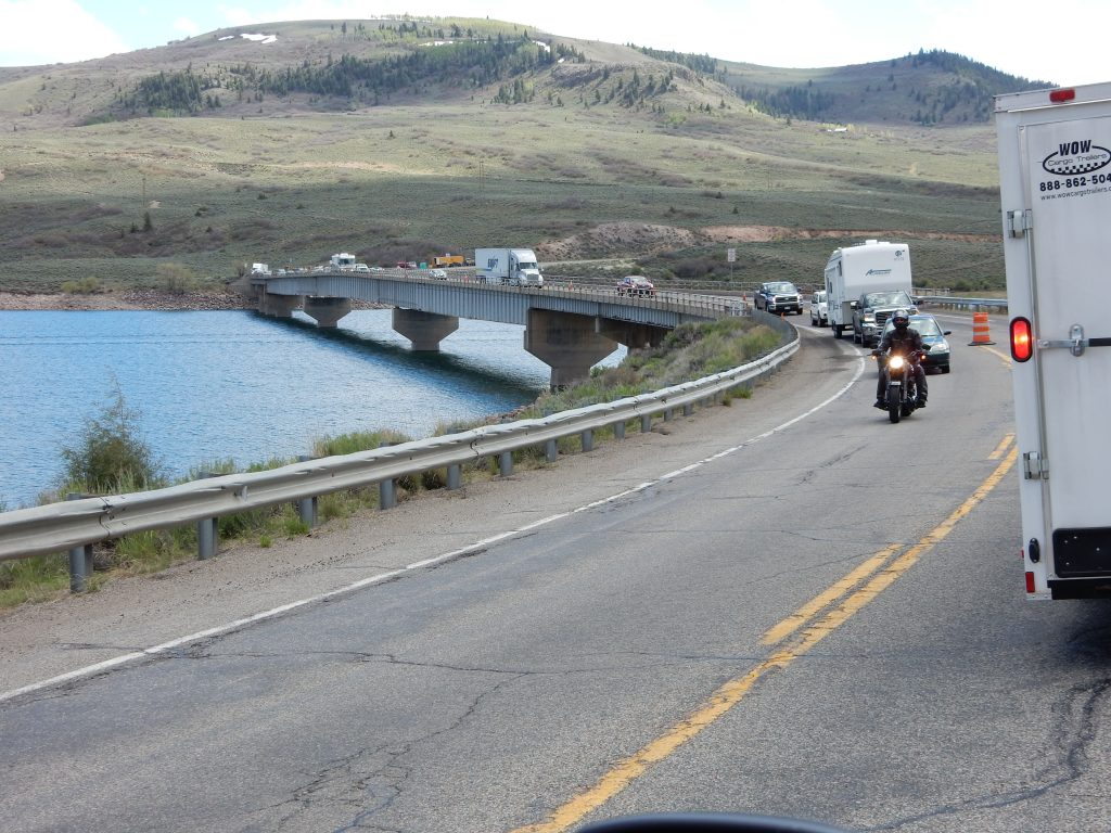 Construction on the bridge over the Blue Mesa Resevoir had us down to one lane.