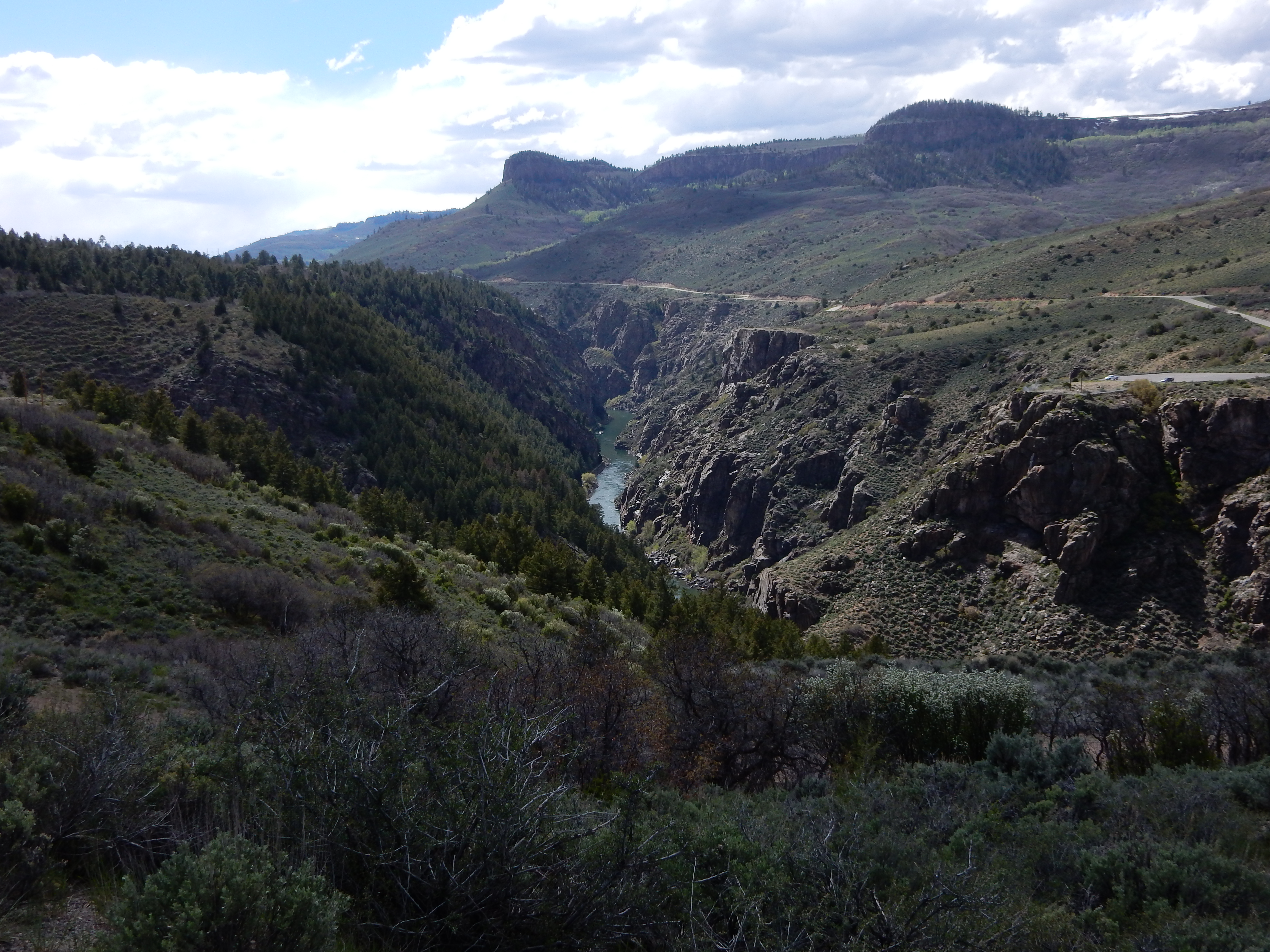 A look down the Black Canyon of the Gunnison.