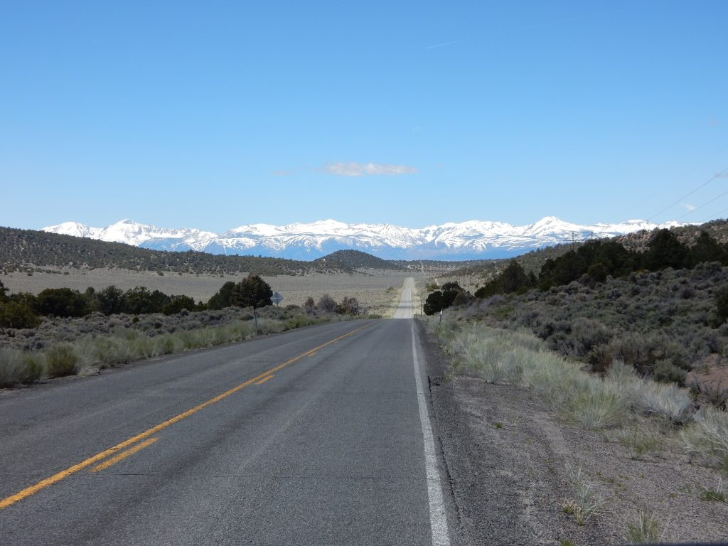 A view of the Sierra Nevada Mountains from just west of the Nevada/California border on CA167.A view of the Sierra Nevada Mountains from just west of the Nevada/California border on CA167.