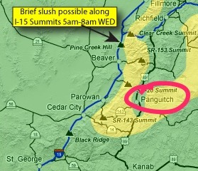 I'm in Panguitch, circled in red.