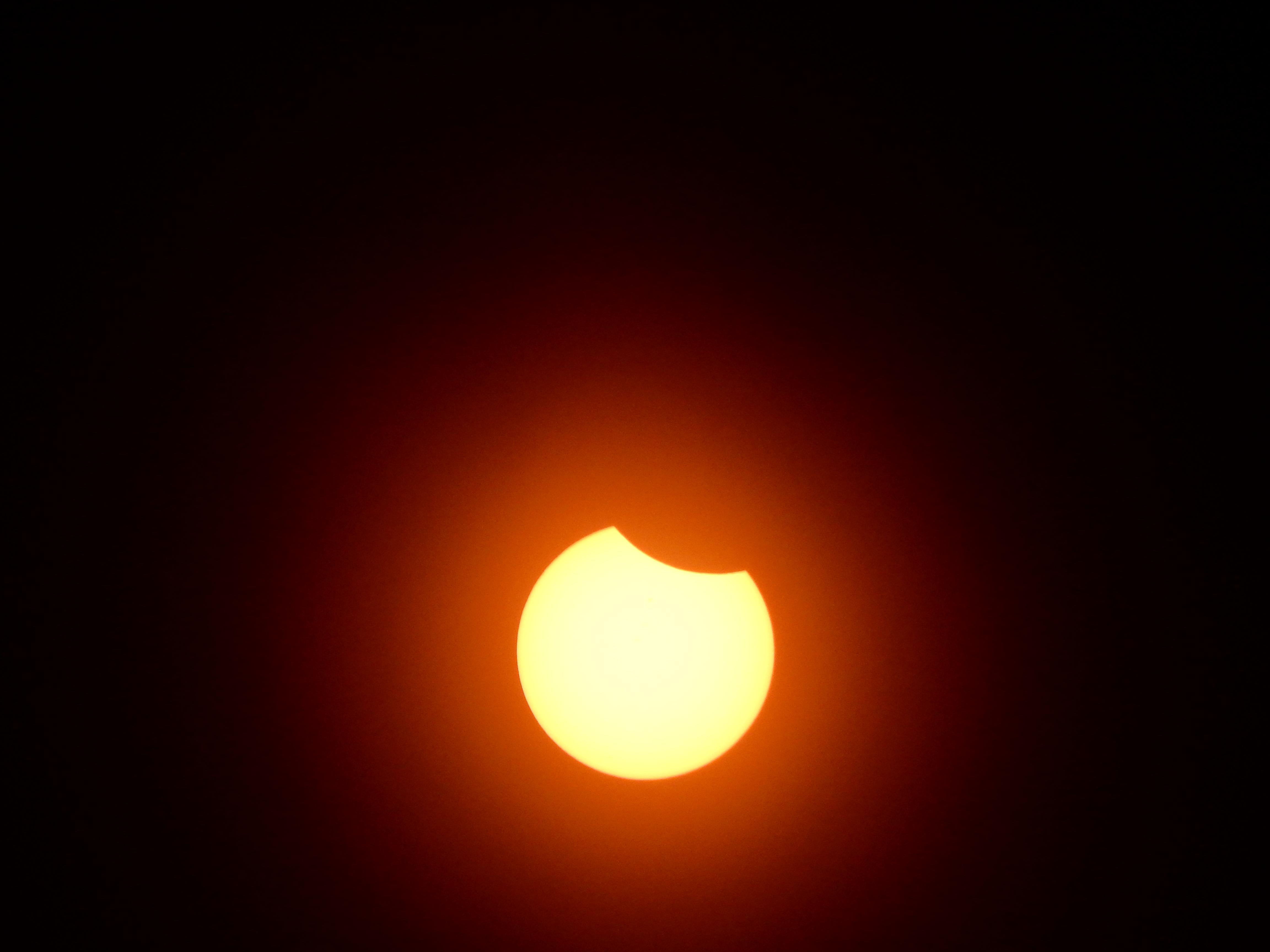 Waning sun, solar filter installed.