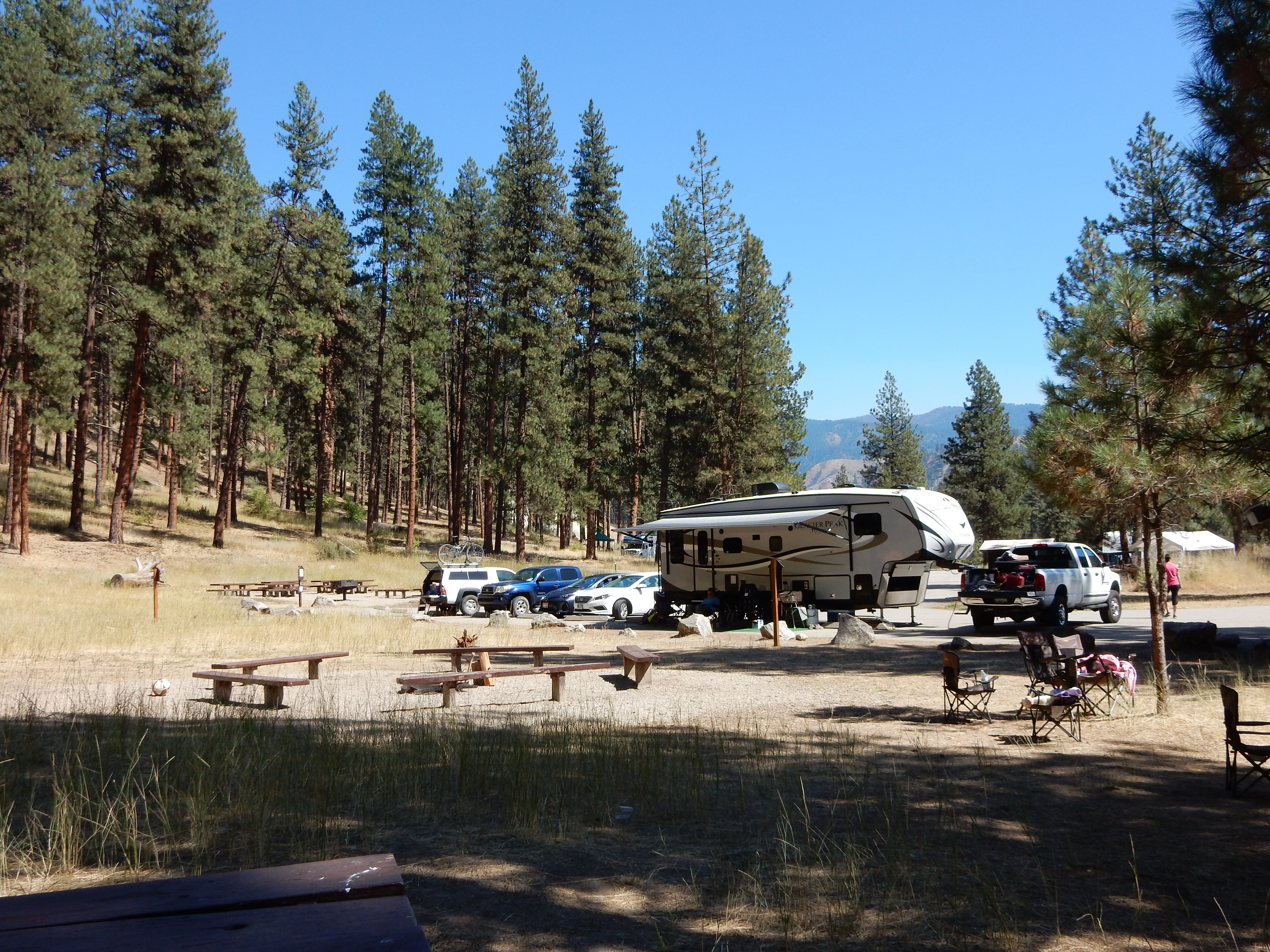 The Hot Springs campground in the Boise National Forest.