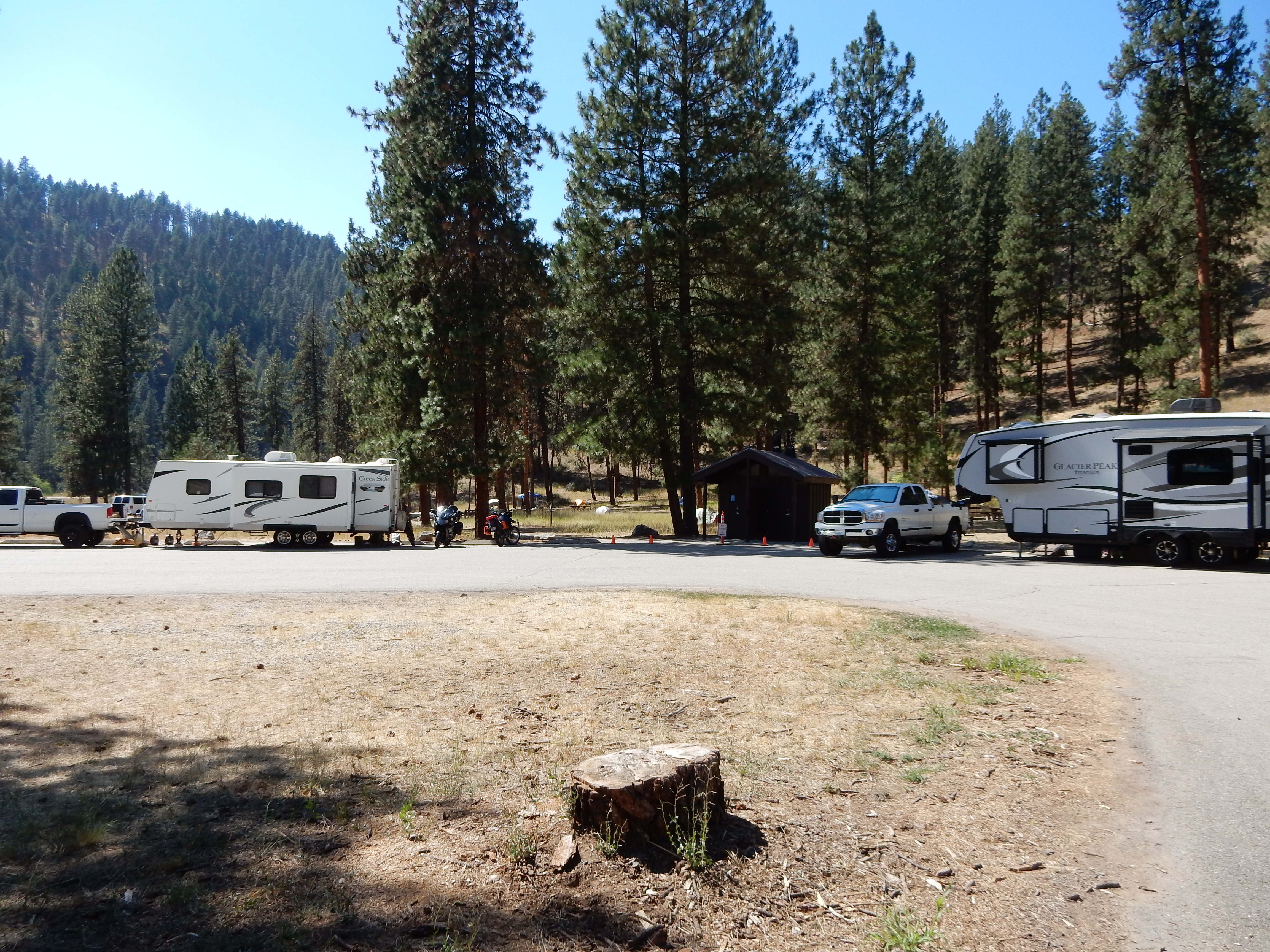 The Hot Springs campground in the Boise National Forest.The Hot Springs campground in the Boise National Forest.