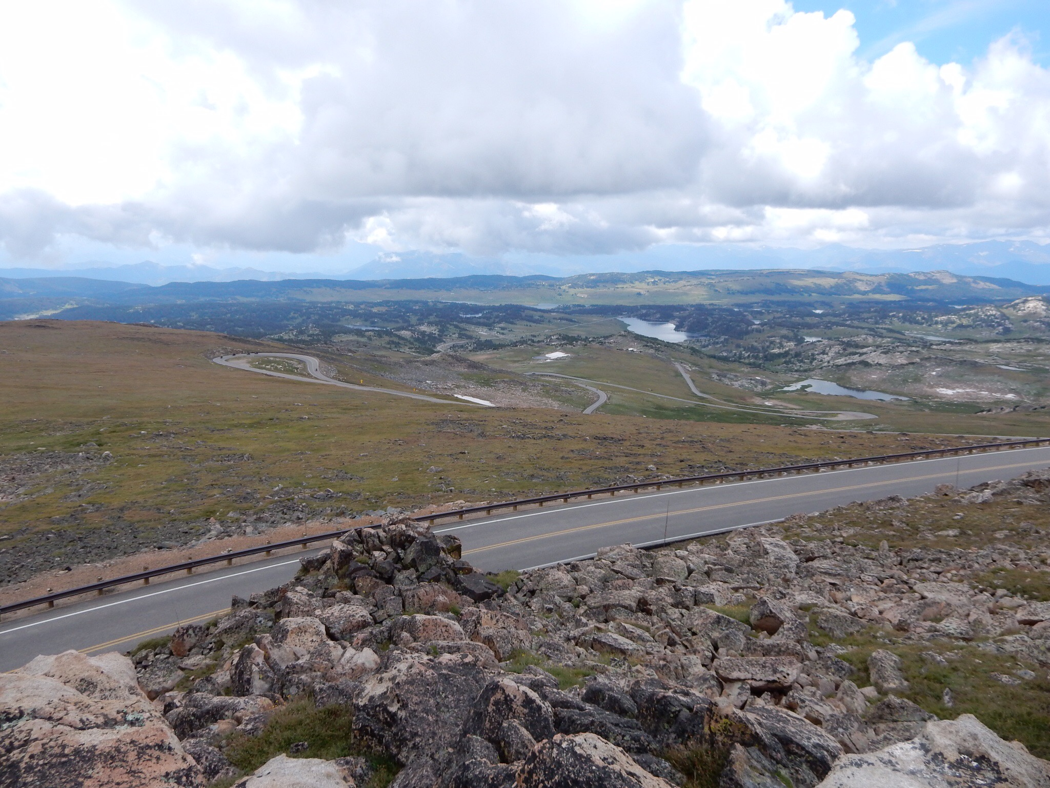 A view southwest from the top of Beartooth Pass.A view southwest from the top of Beartooth Pass.