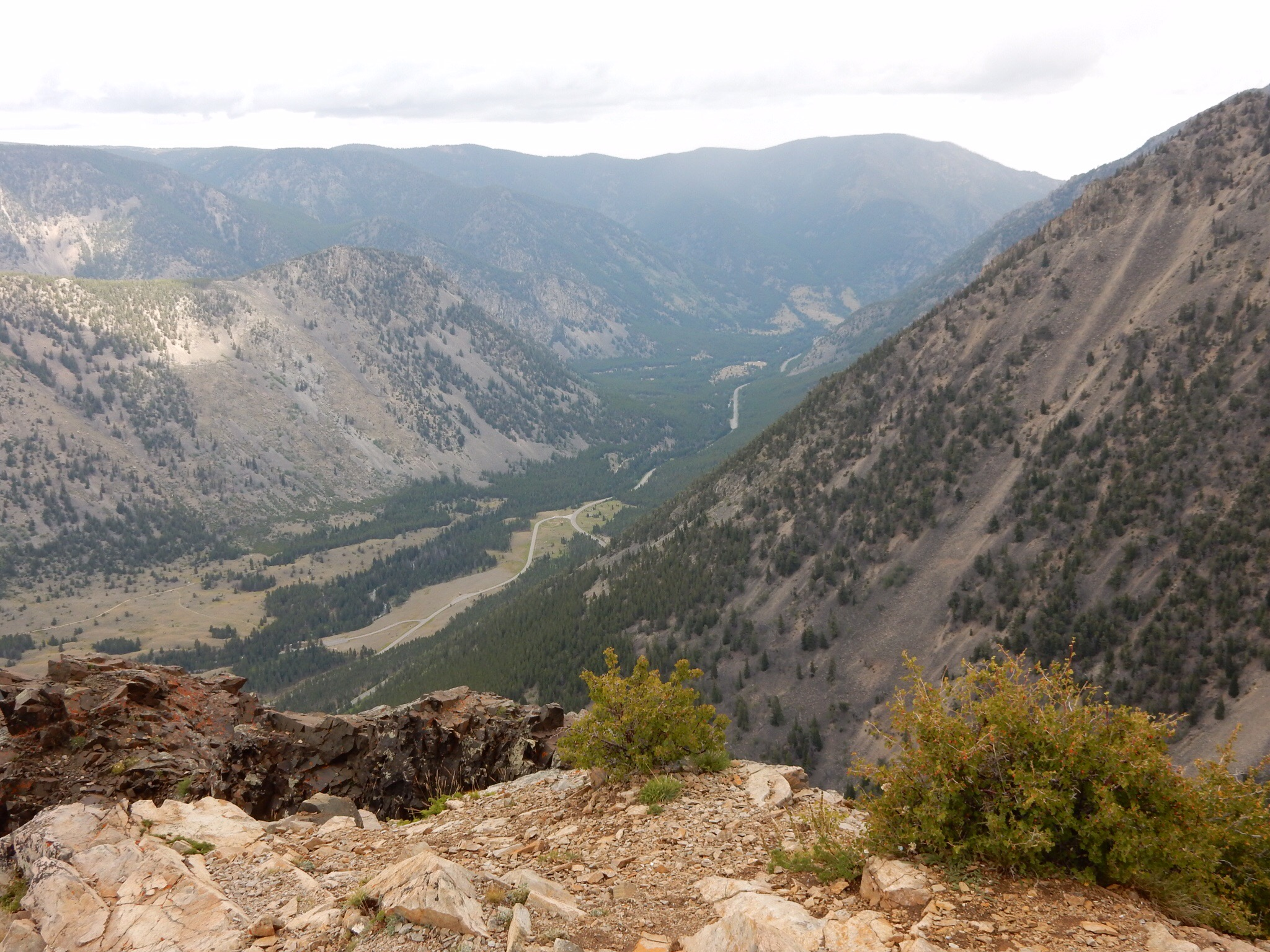 A view towards Red Lodge from a Beartooth Pass overlook.