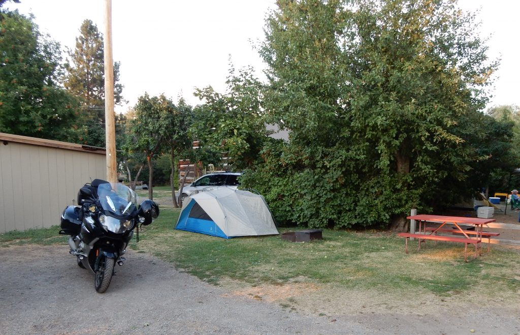 My campsite at the Missoula KOA.