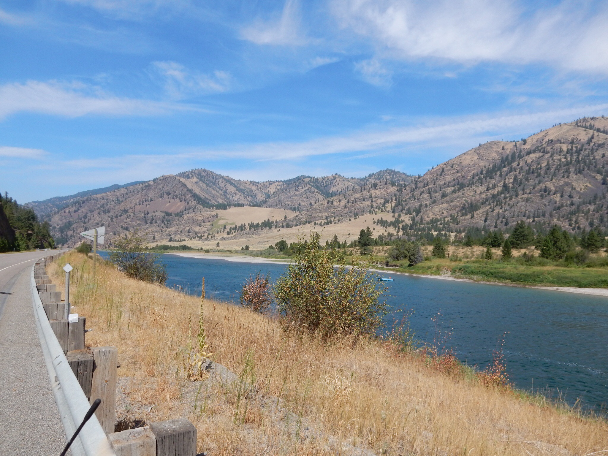 Looking downriver on Flathead River along Montana highway 200.