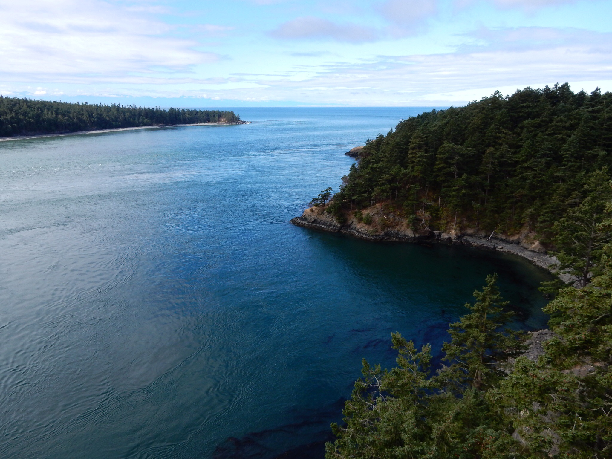 A view from the east side of Deception Pass.A view from the east side of Deception Pass.