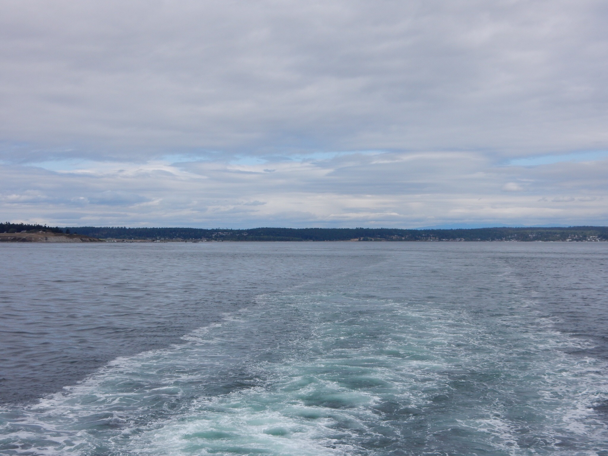 Crossing Puget Sound on the Coupeville/Port Townsend ferry.