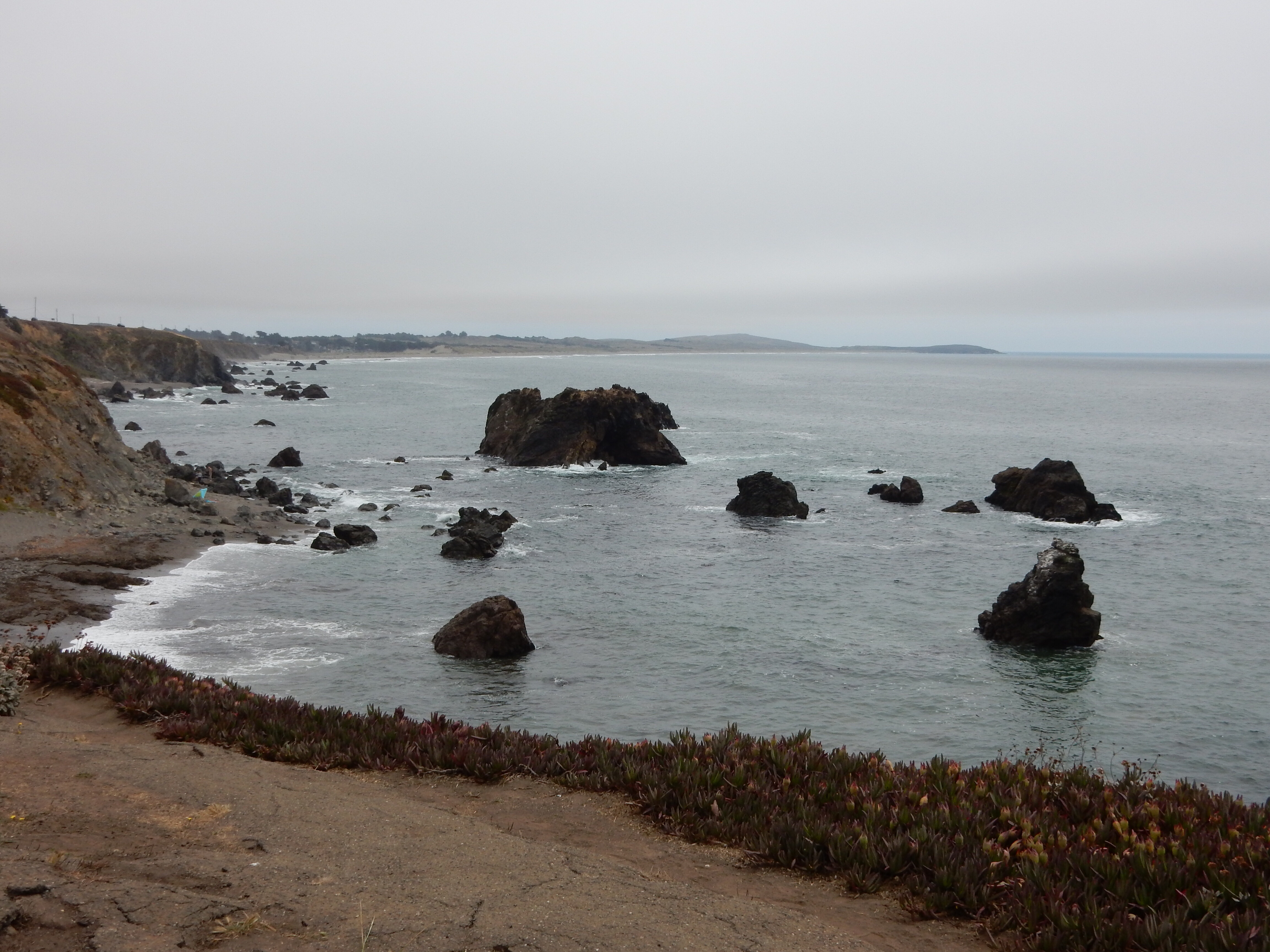 Looking south along the Carmet coastline.
