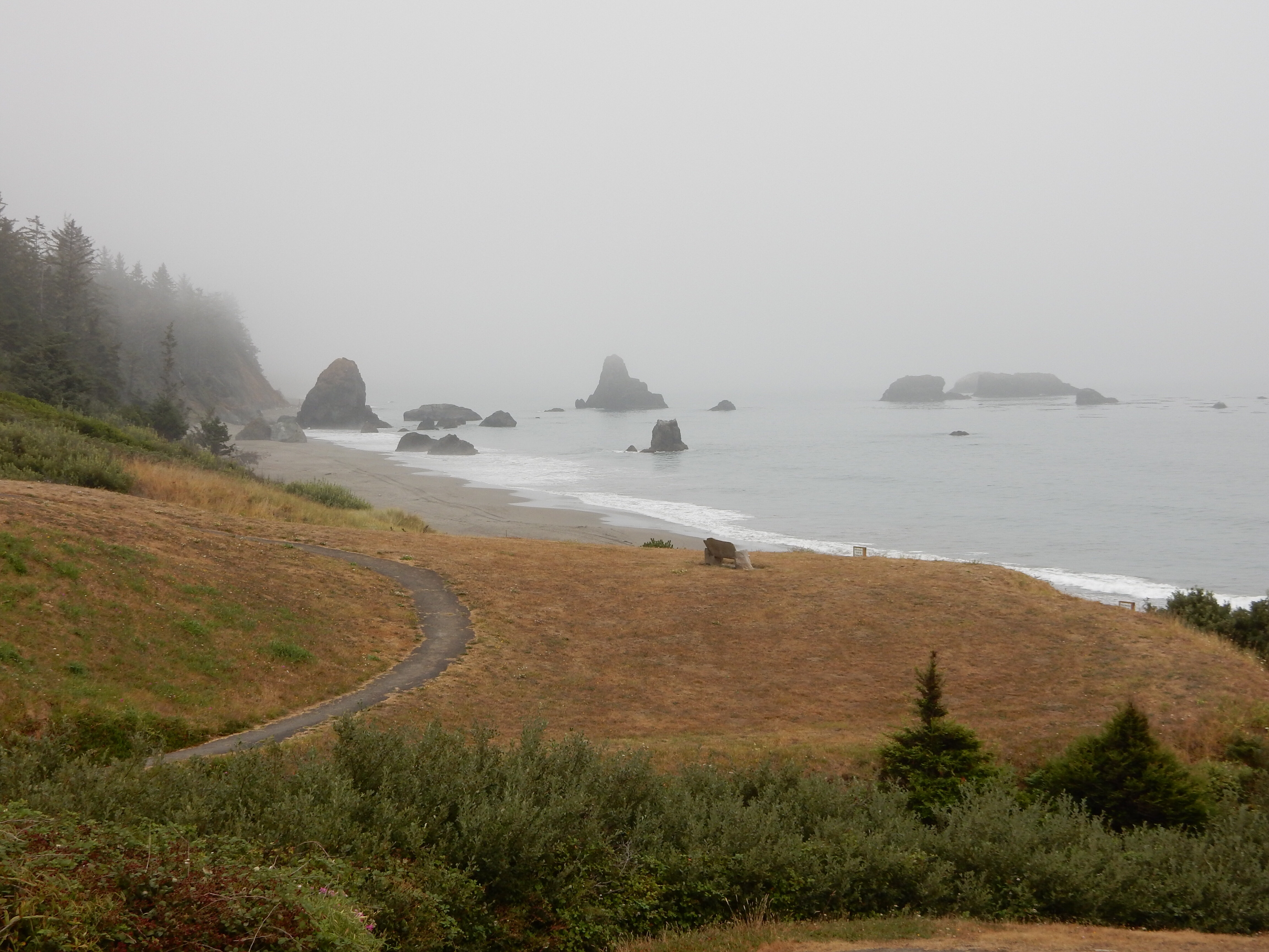 A view south from the Battle Rock overlook at Port Orford.