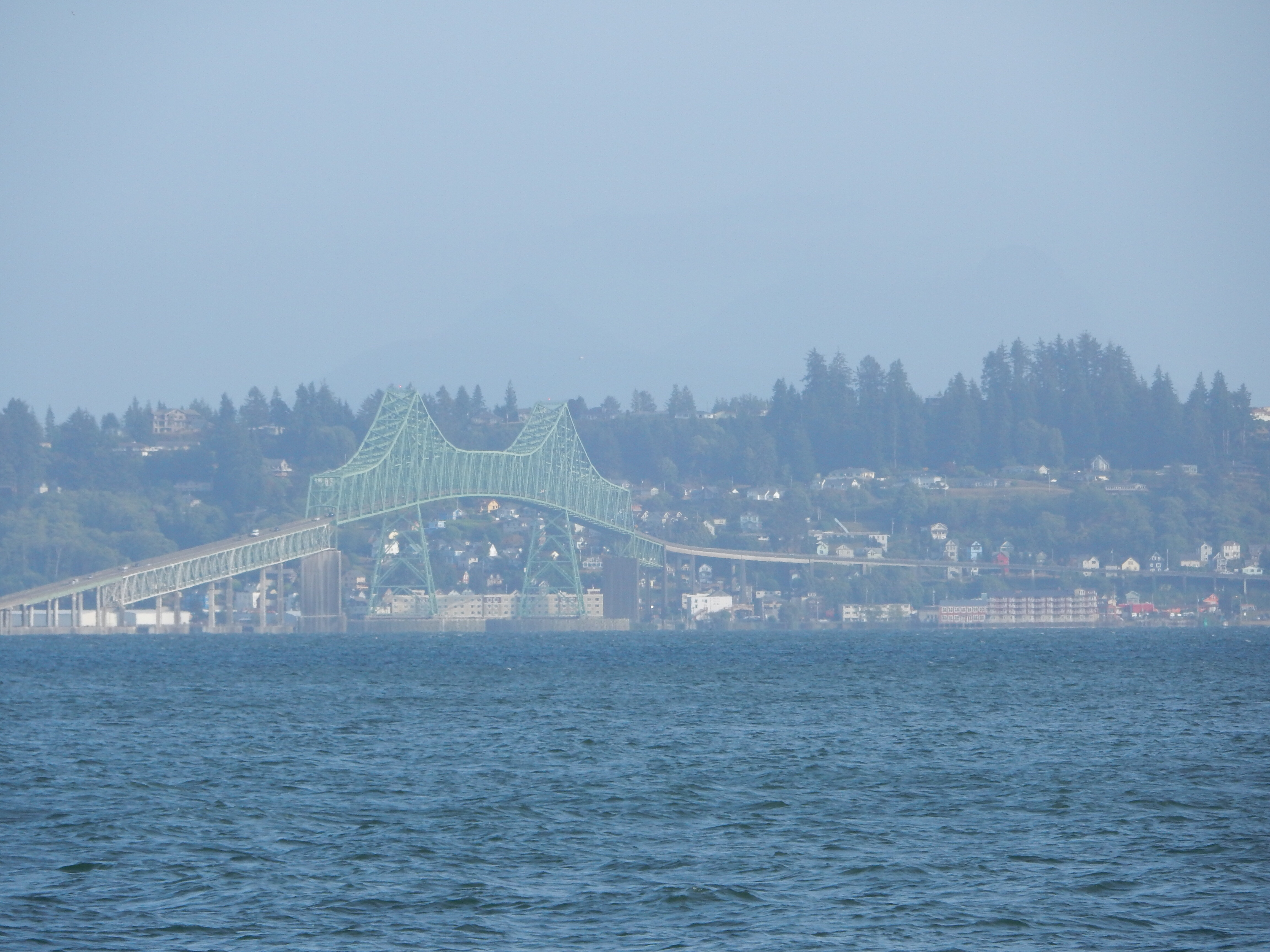 A view of the bridge at Astoria, OR, taken from the Washington shore.