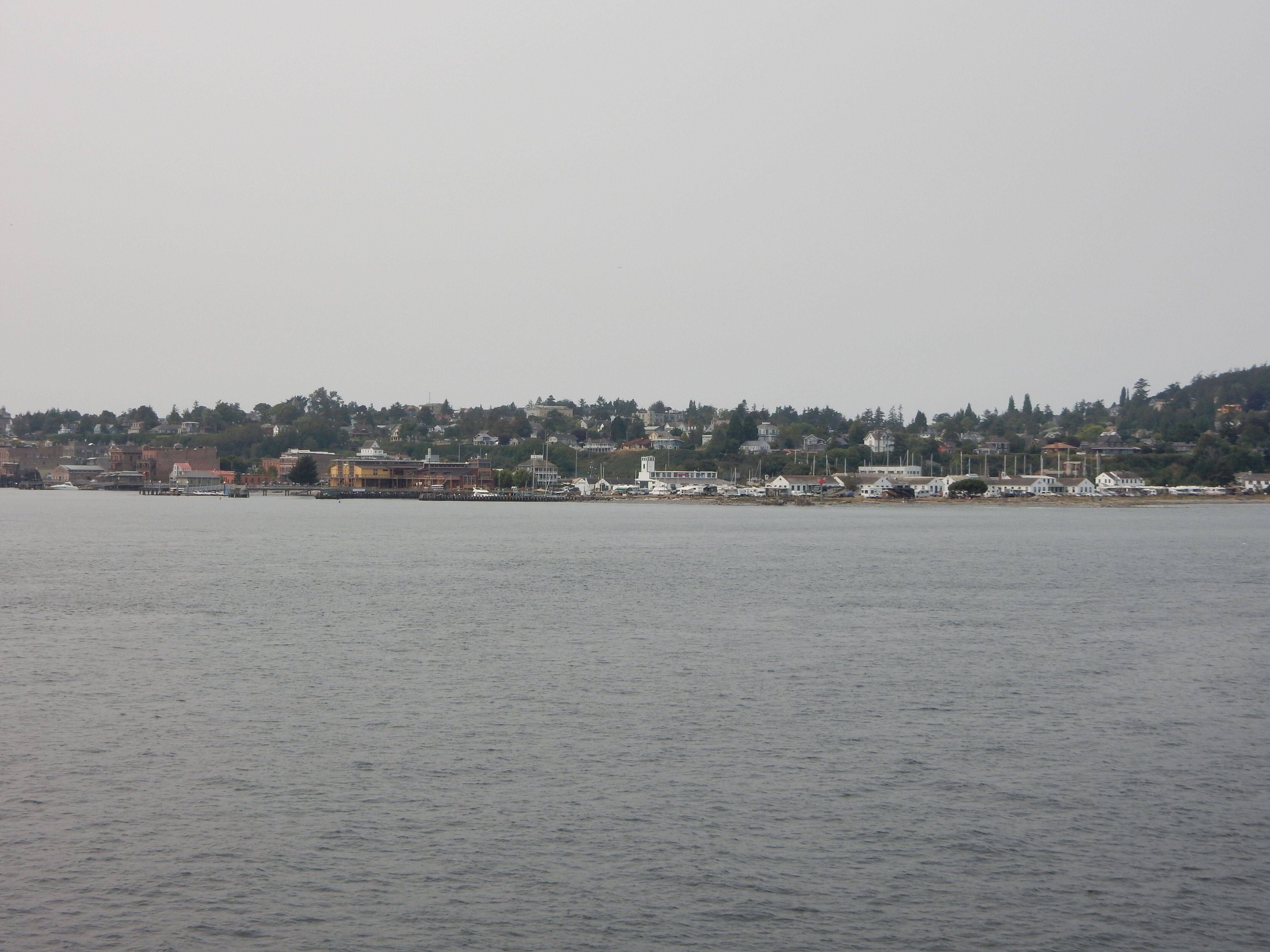 Departing Port Townsend on the Port Townsend/Whidbey Island ferry.