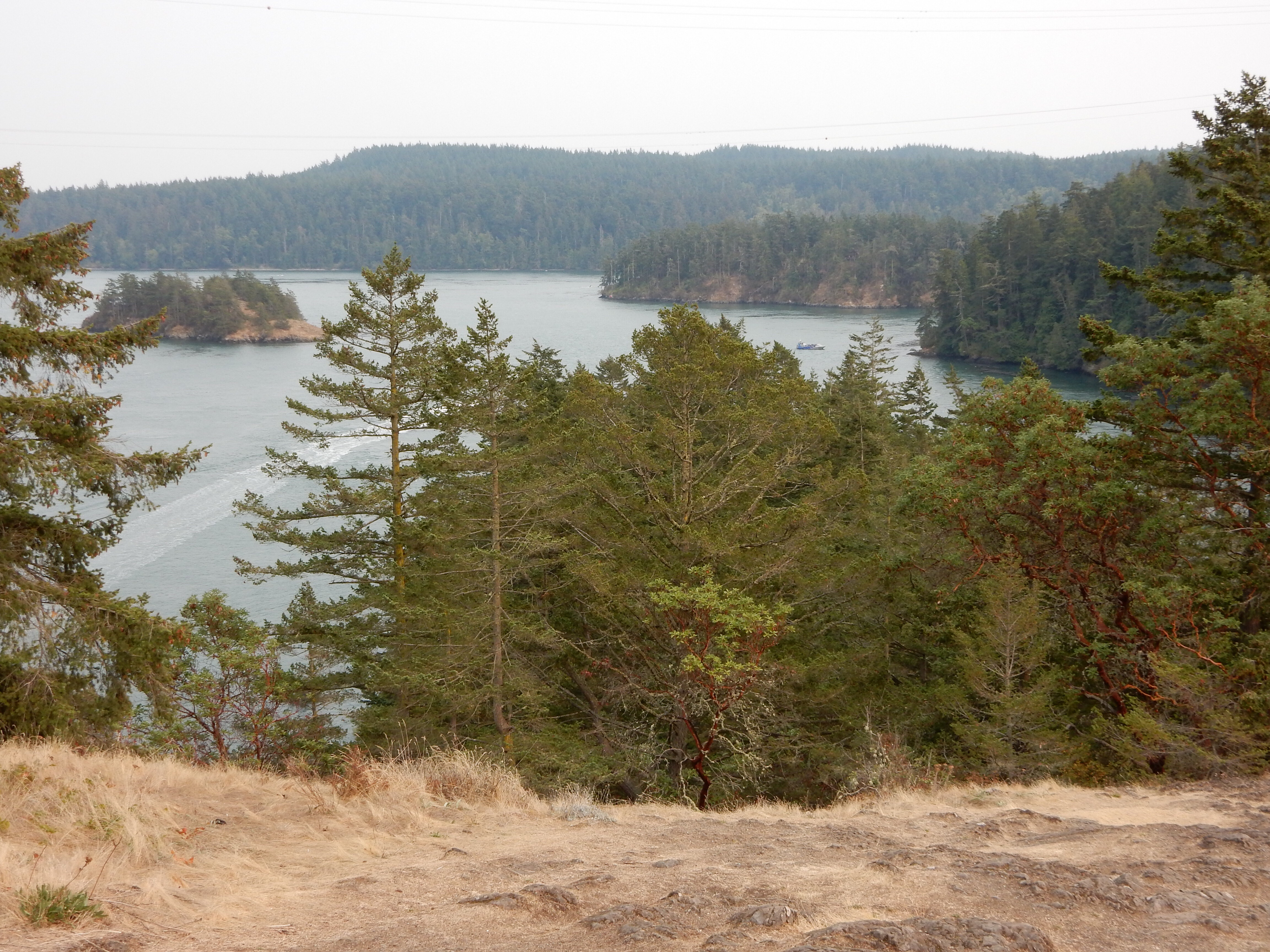 The waterway north (east) of Deception Pass.