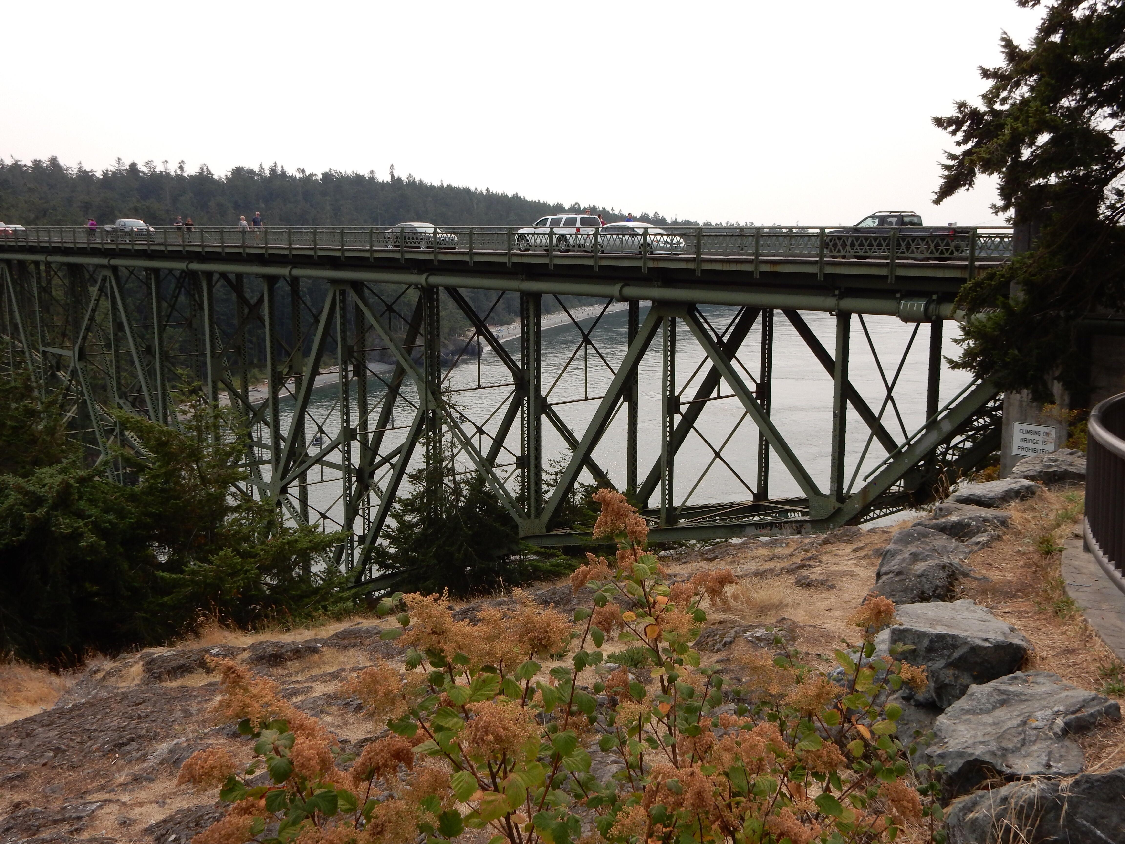 The Deception Pass bridge.