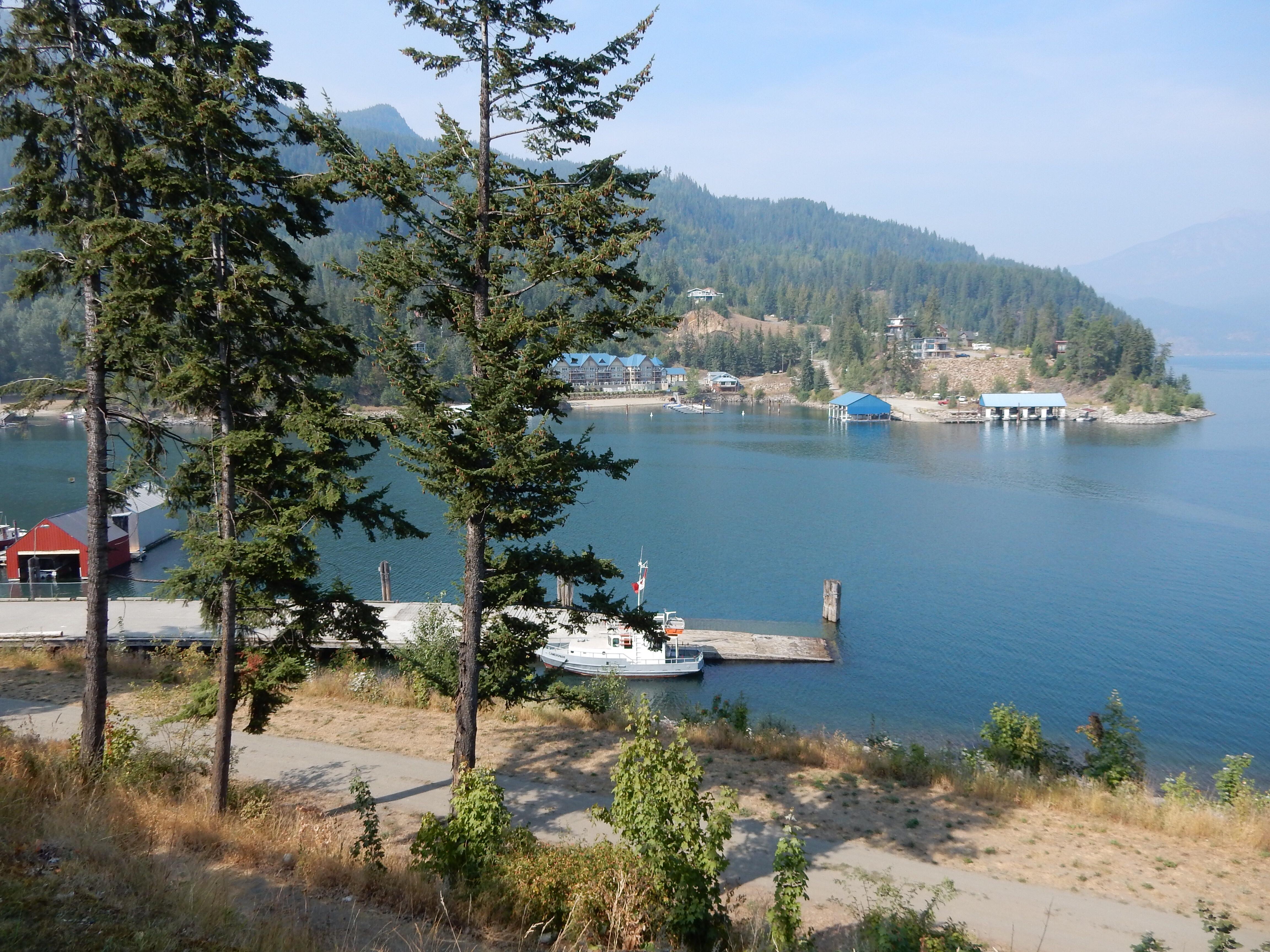 Docks and marinas at Kaslo, BC.