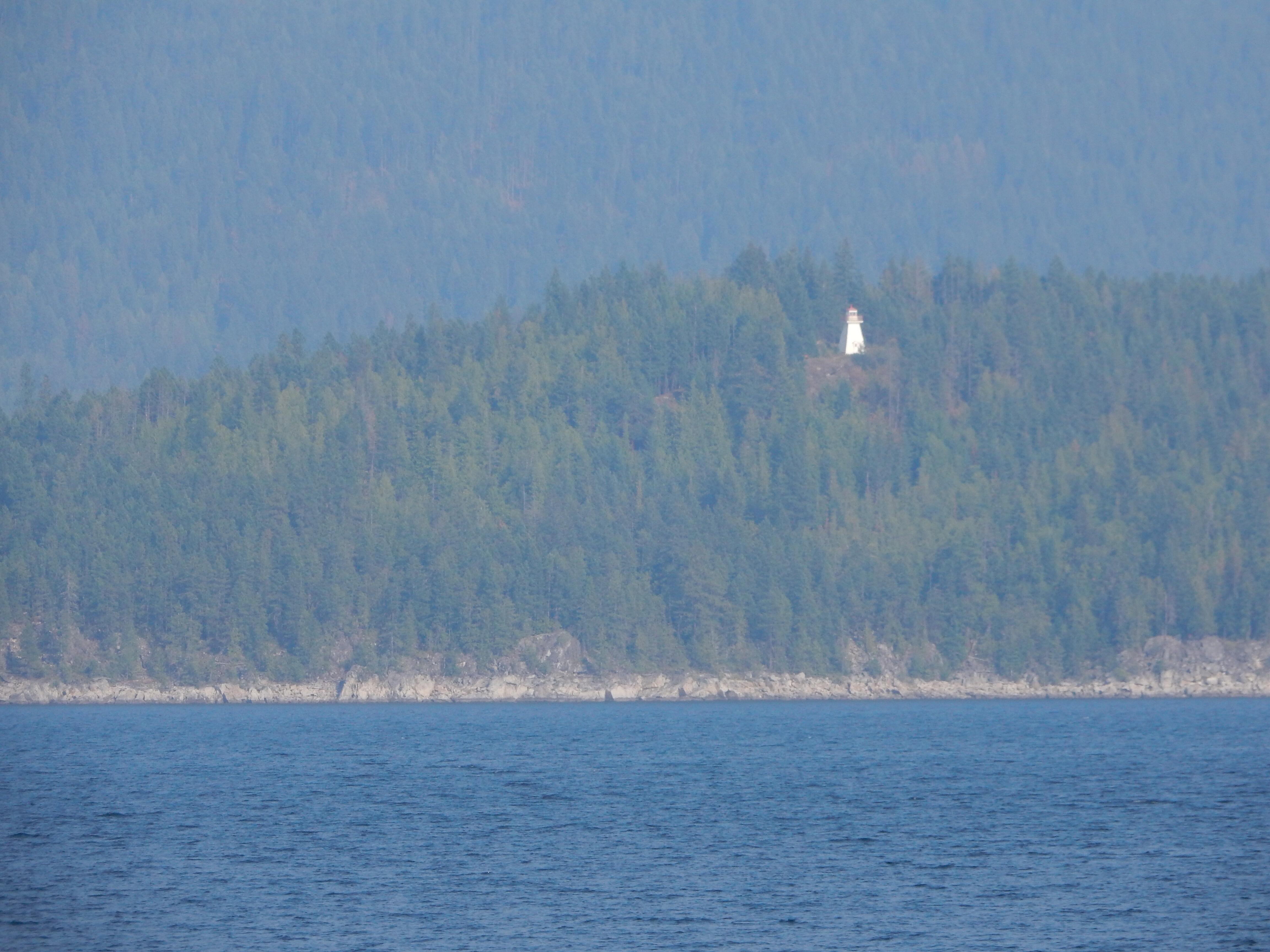 A lighthouse overlooking Lake Kootenay.