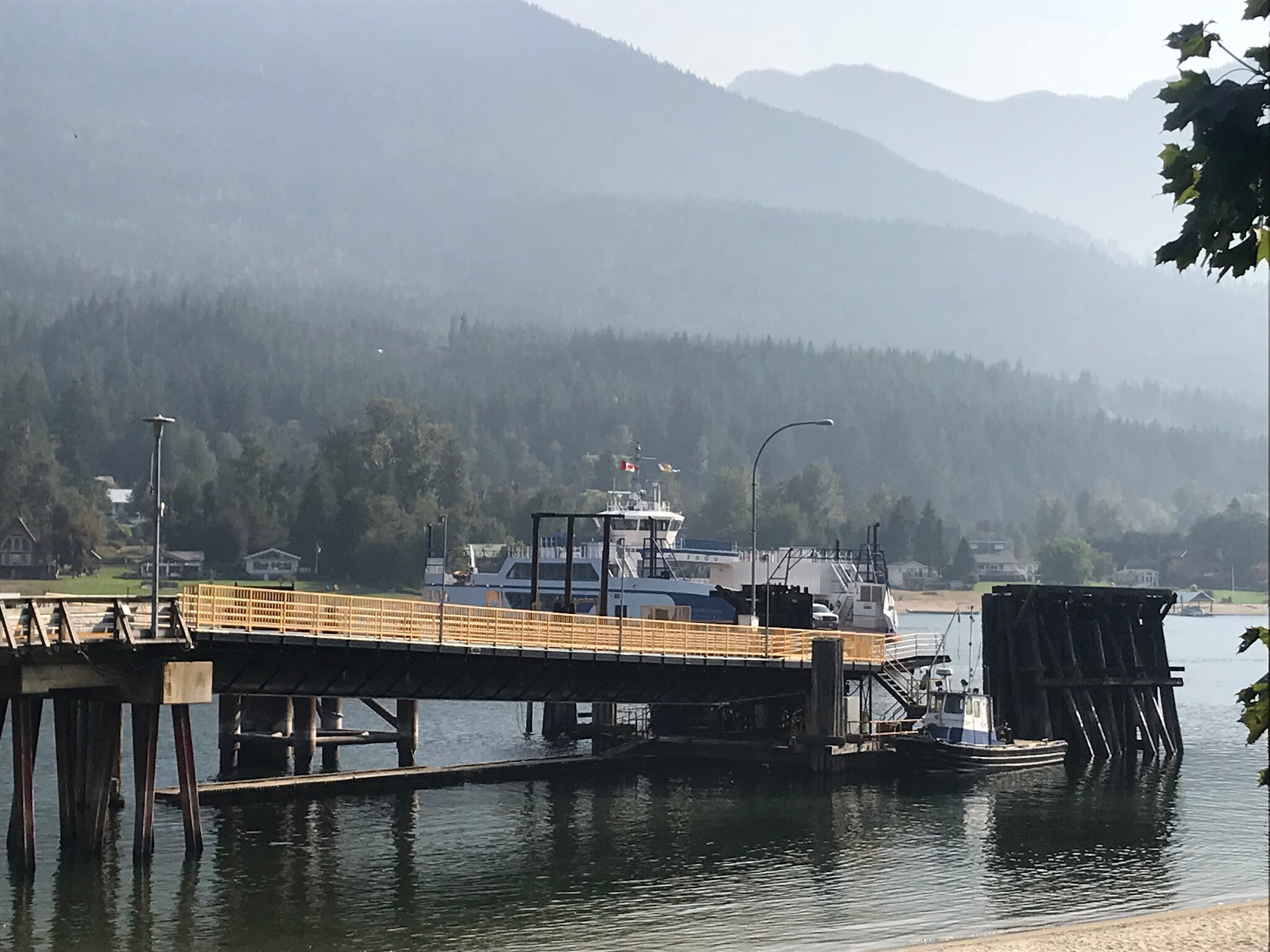 My ride is arriving to pick me up (along with a few others). This is the Osprey 2000, one of the two Balfour/Kootenay Ferries.