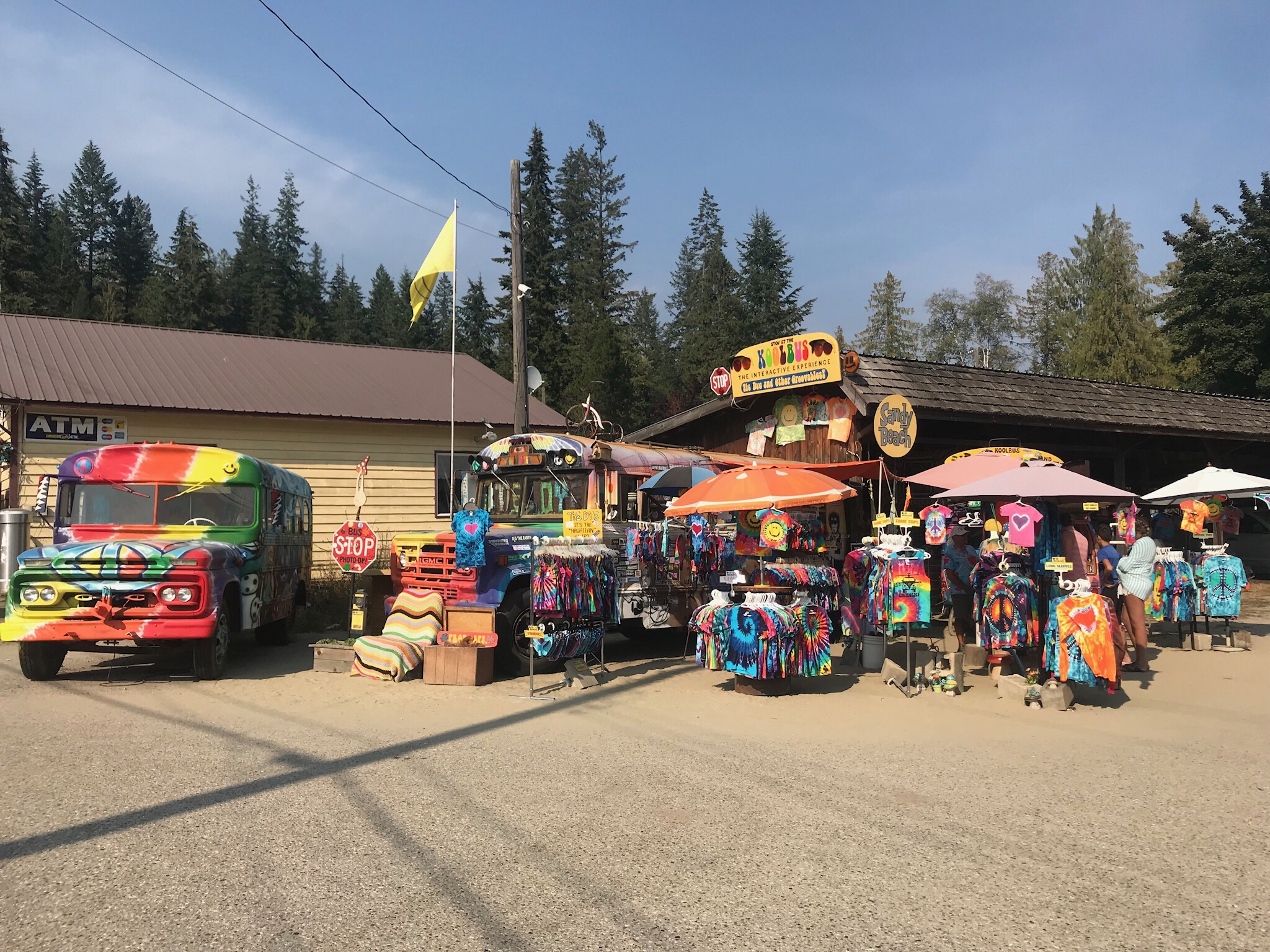 The Kool Bus tie dye outlet next to the Balfour ferry staging area. Someone call Papaboop; I bet he could find something here.