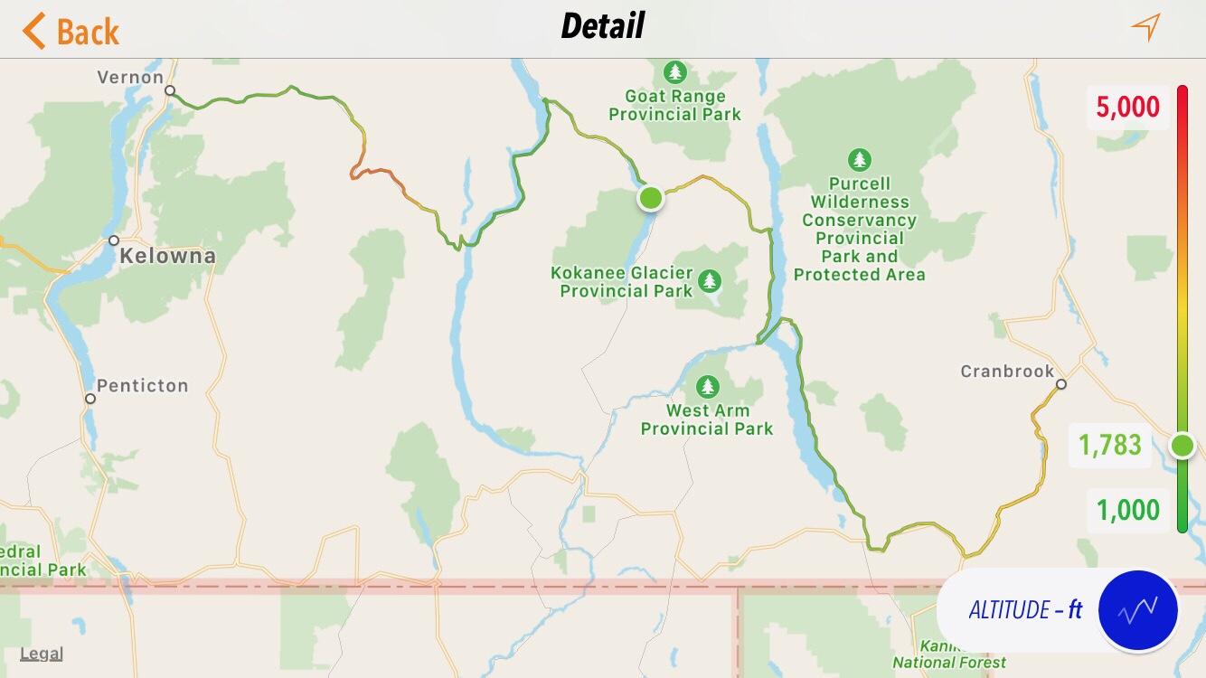 2018 ParTay, Day 18, Vernon, BC to Cranbrook, BC.