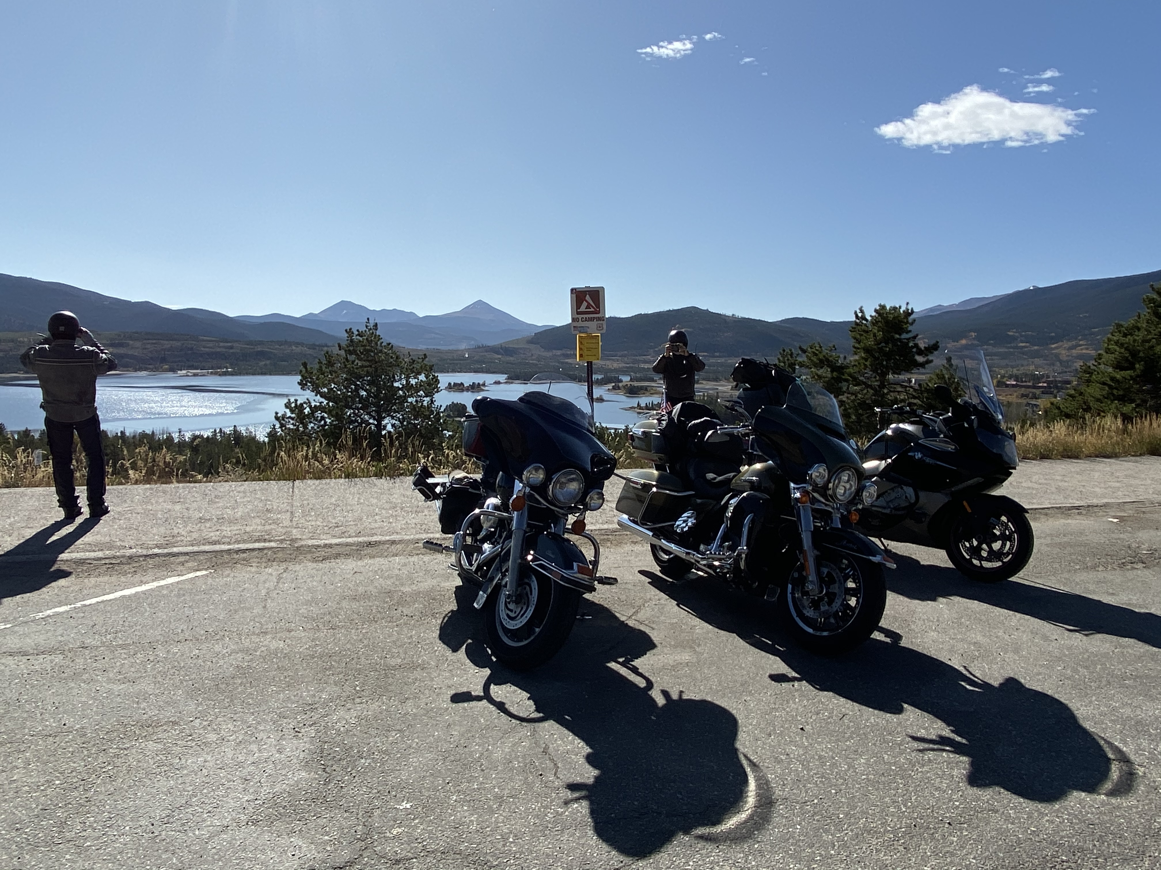 The group at the Dillon Reservoir overlook.