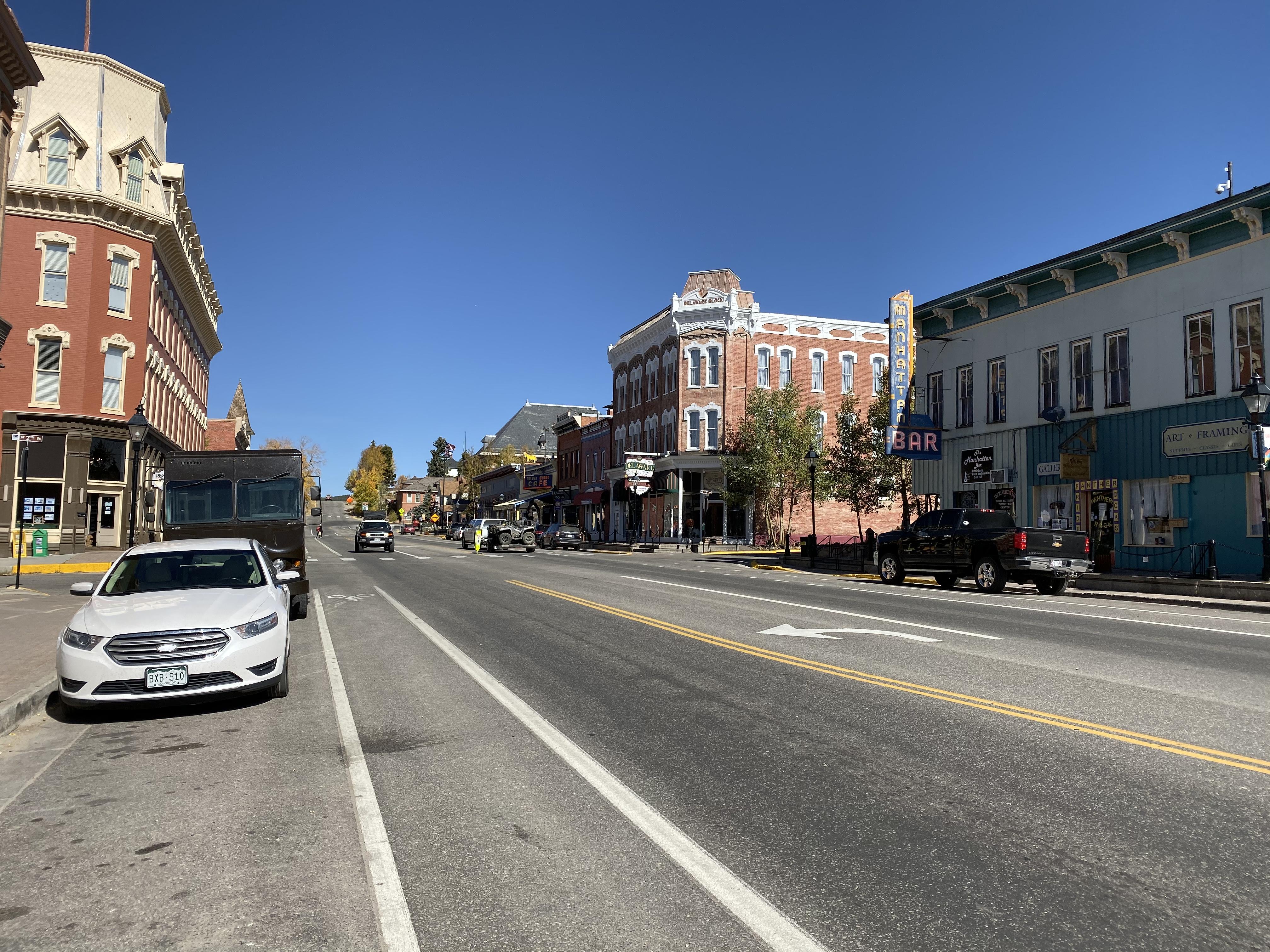 Main Street in Leadville, Colorado.