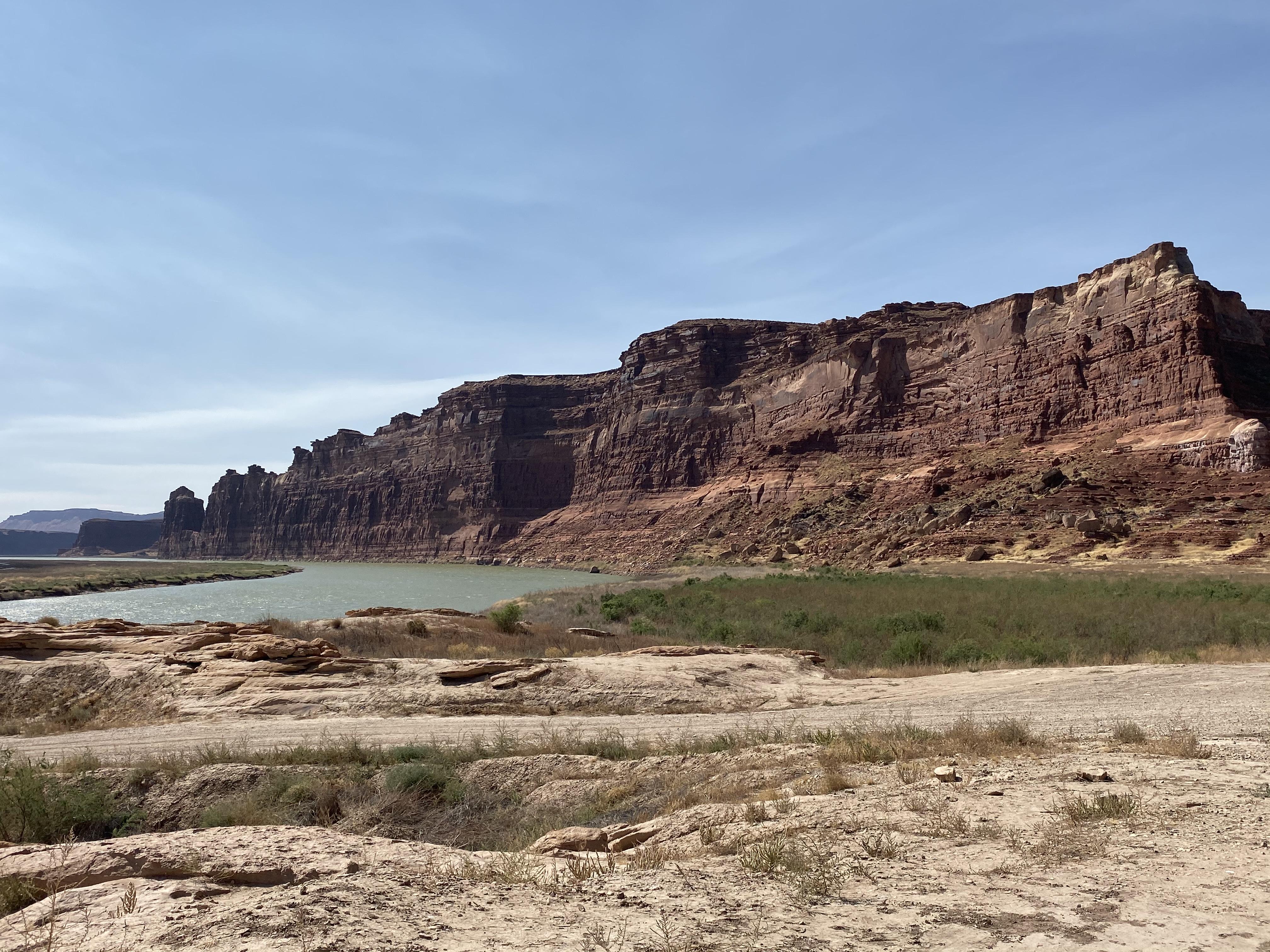Downstream Colorado River at Glen Canyon.