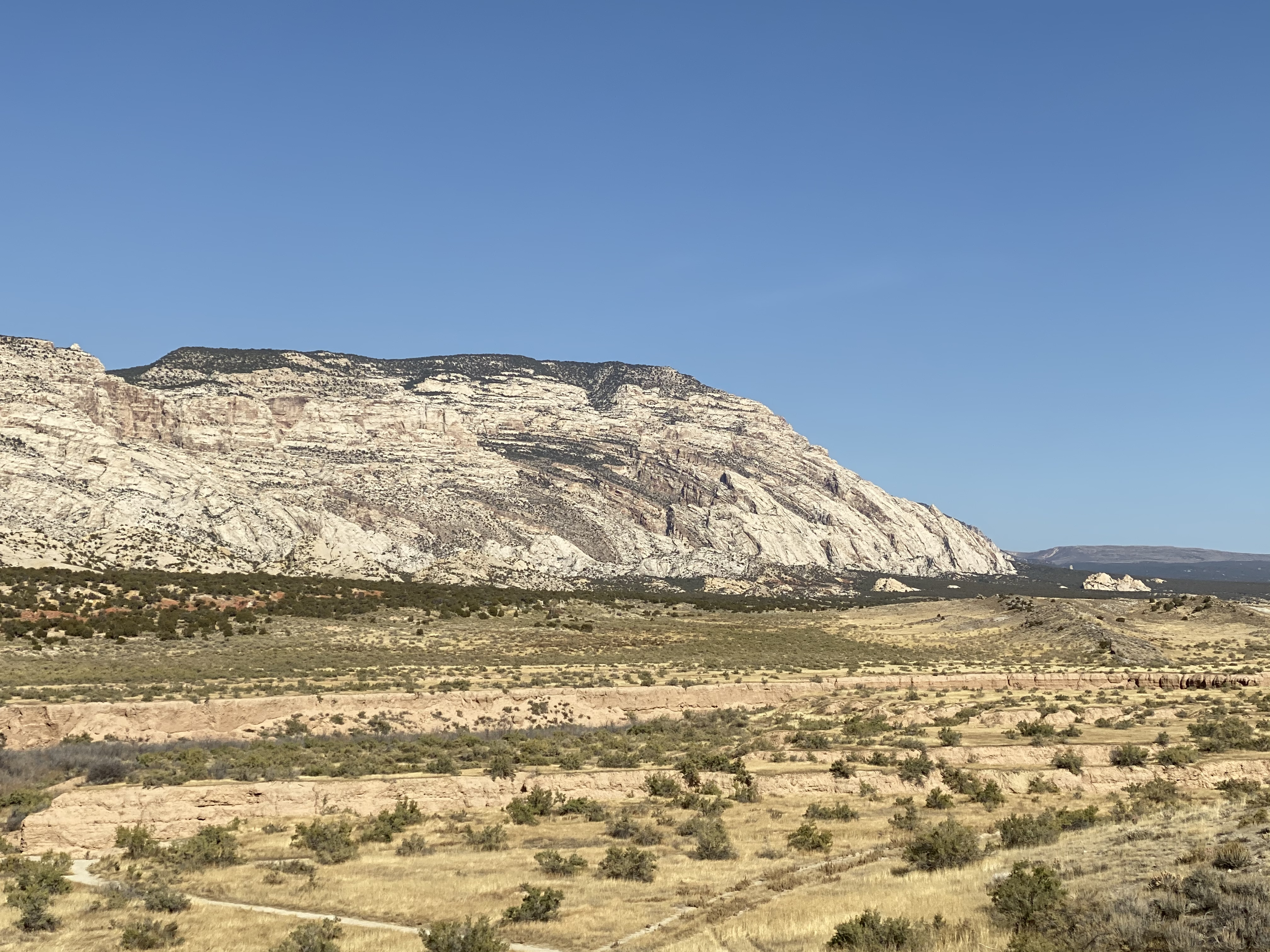 A rock formation north of US40 east of Dinosaur, CO.