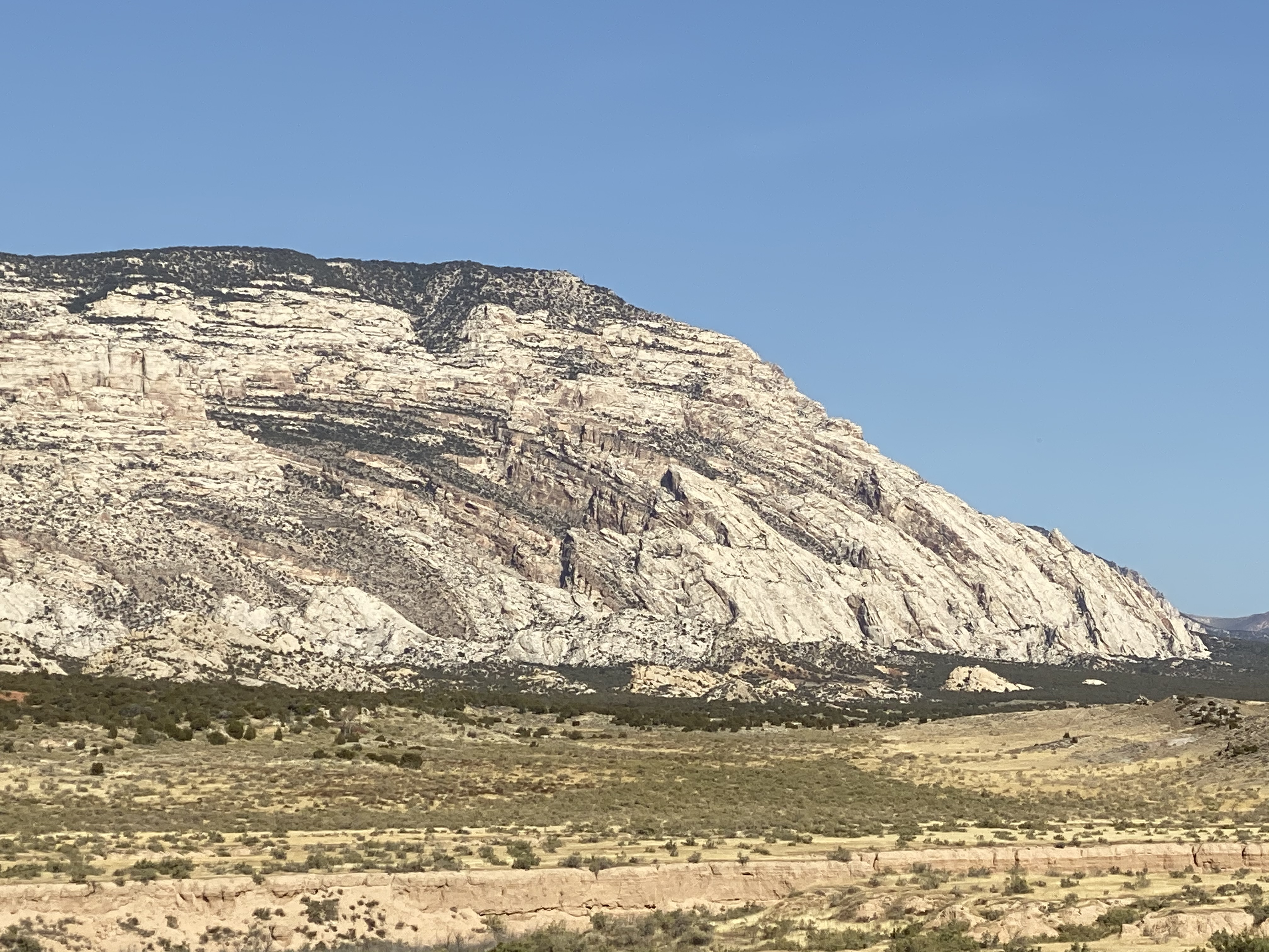 A closeup of a rock formation north of US40 east of Dinosaur, CO.
