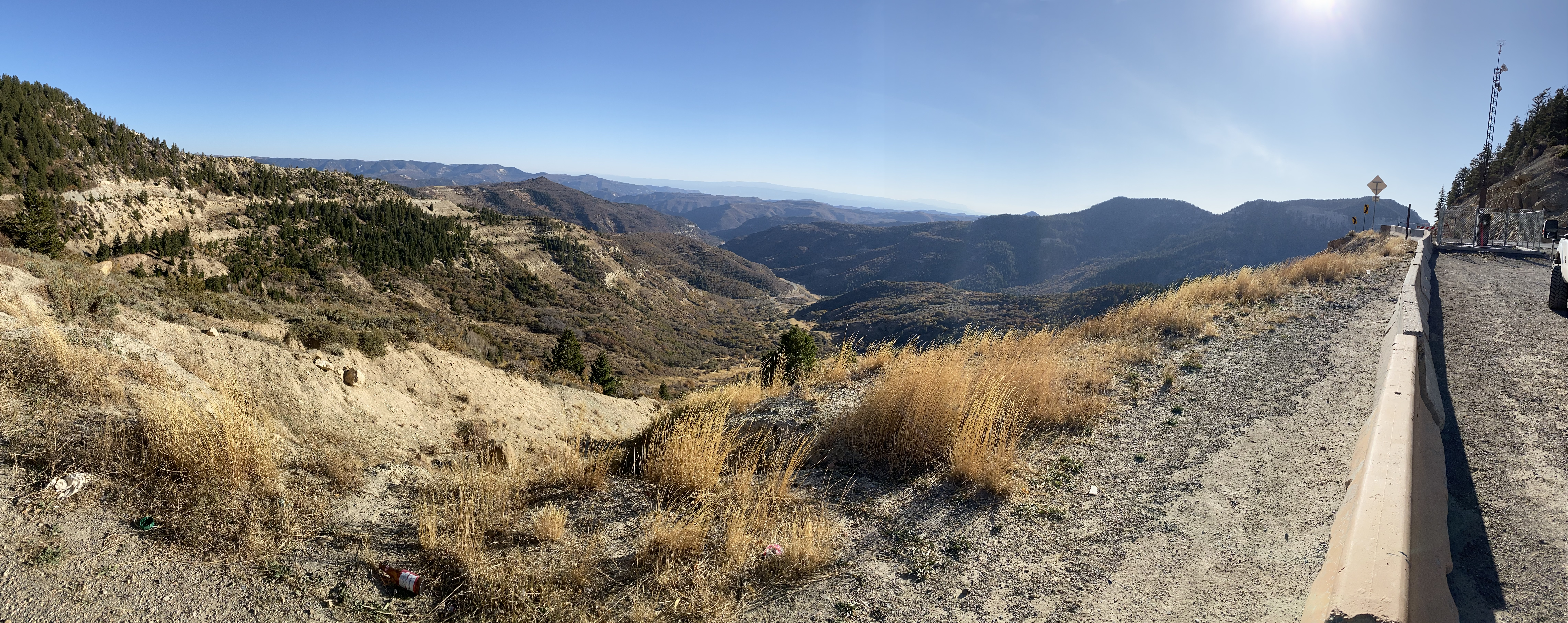 A panorama from Douglas Pass on CO139.
