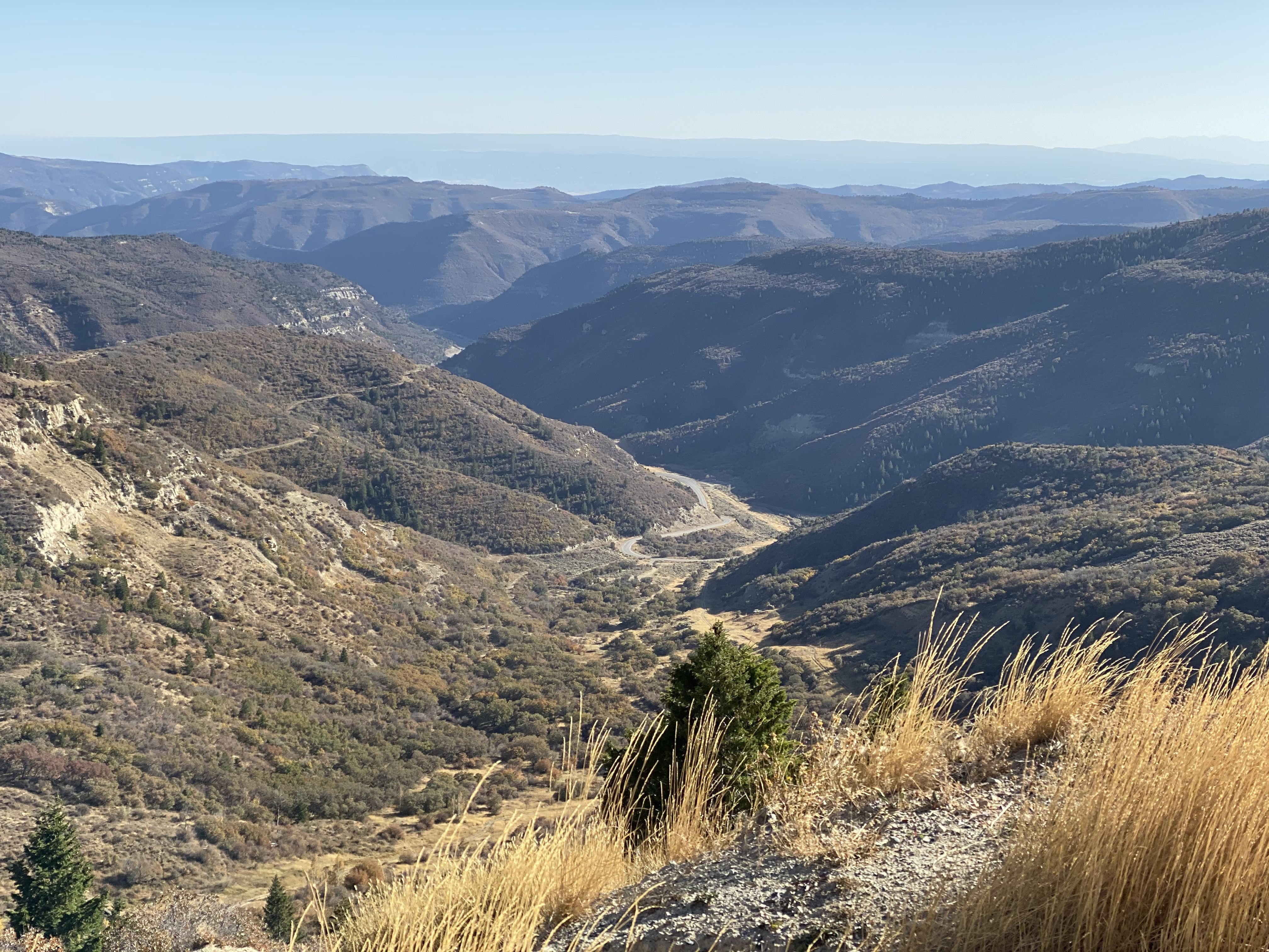 A view from Douglas Pass on CO139.