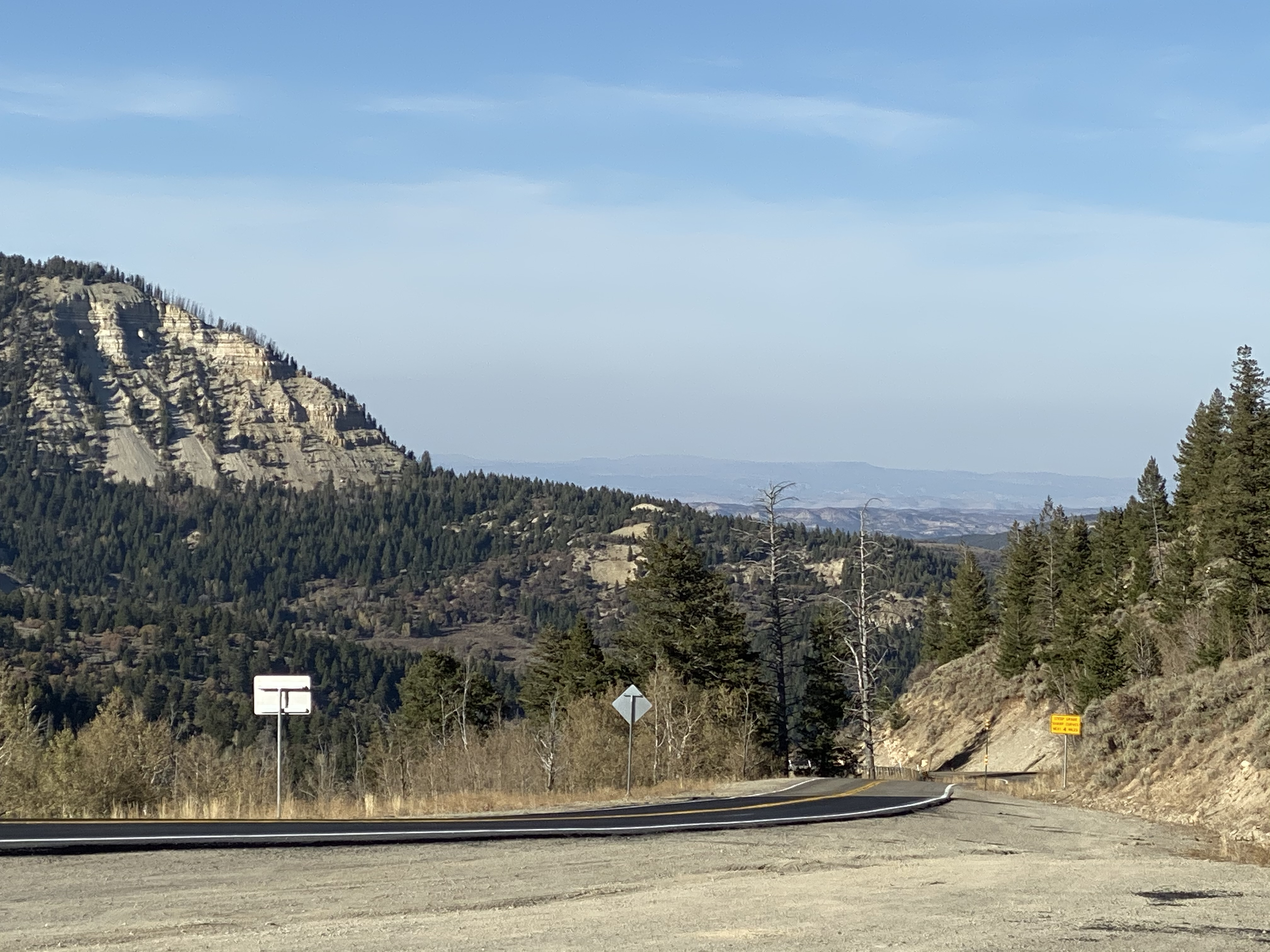 A view north from Douglas Pass on CO139.