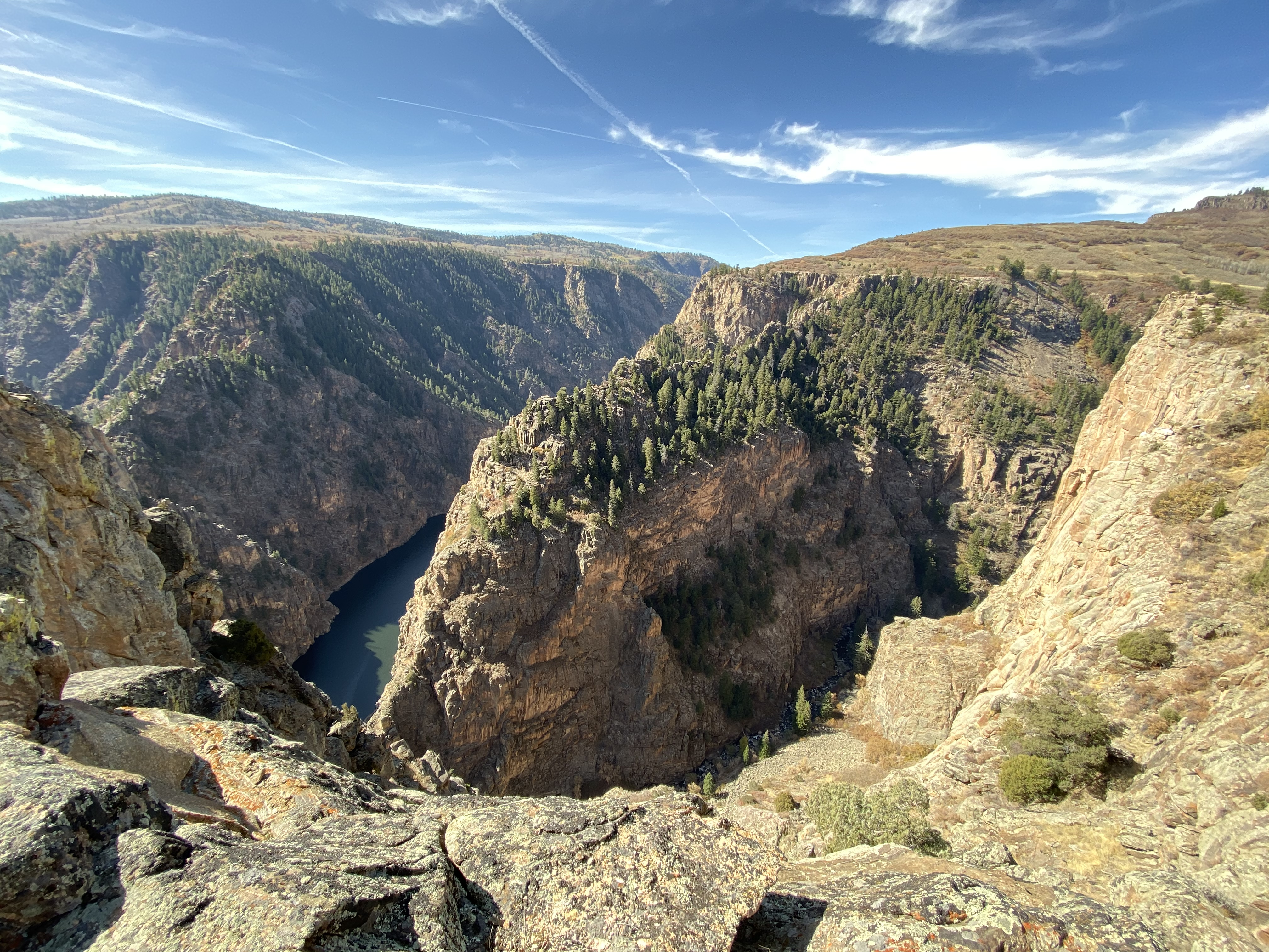 Looking downriver from the Pioneer Point overlook.