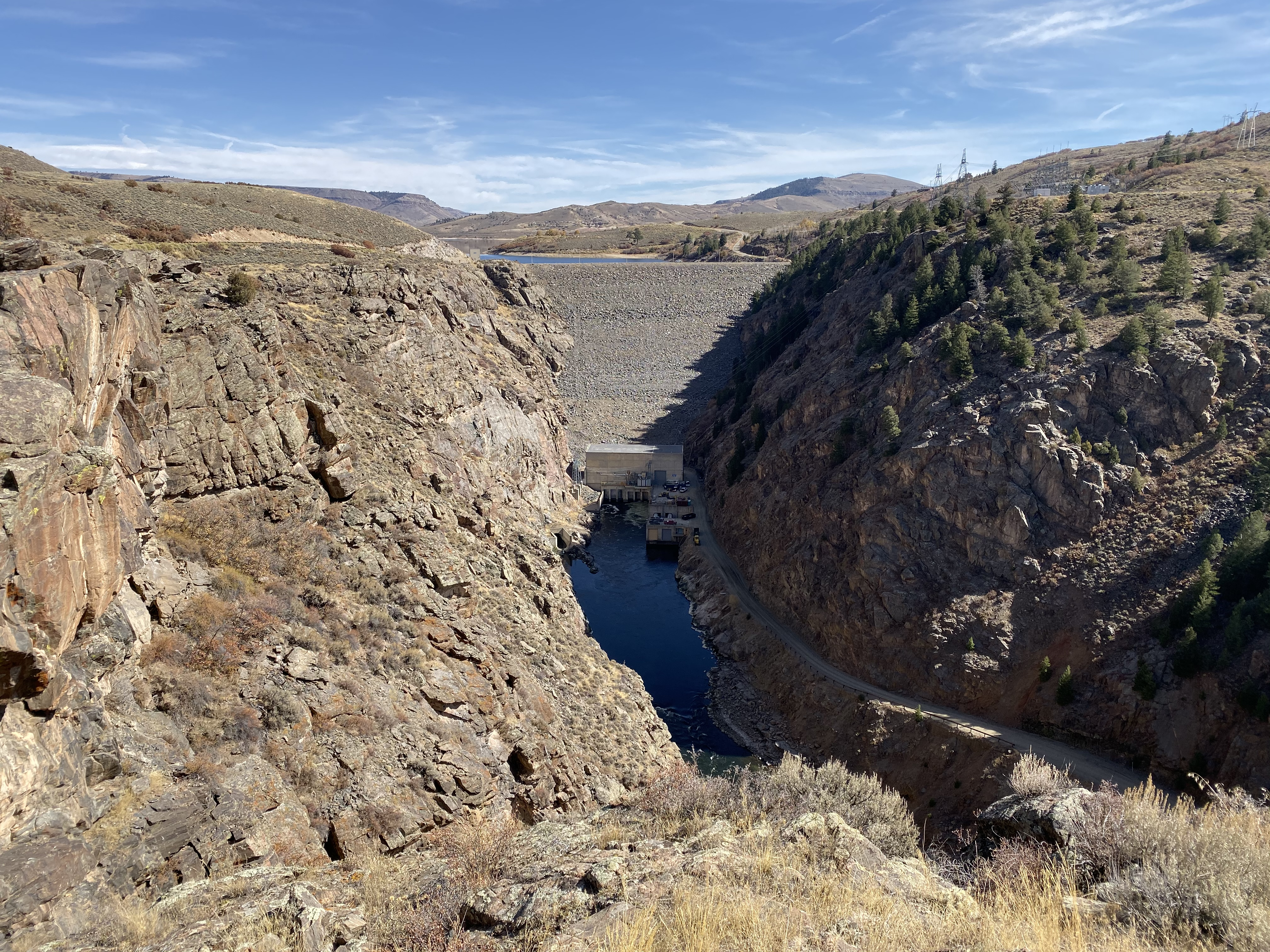 Blue Mesa Dam from the Blue Mesa Dam overlook.
