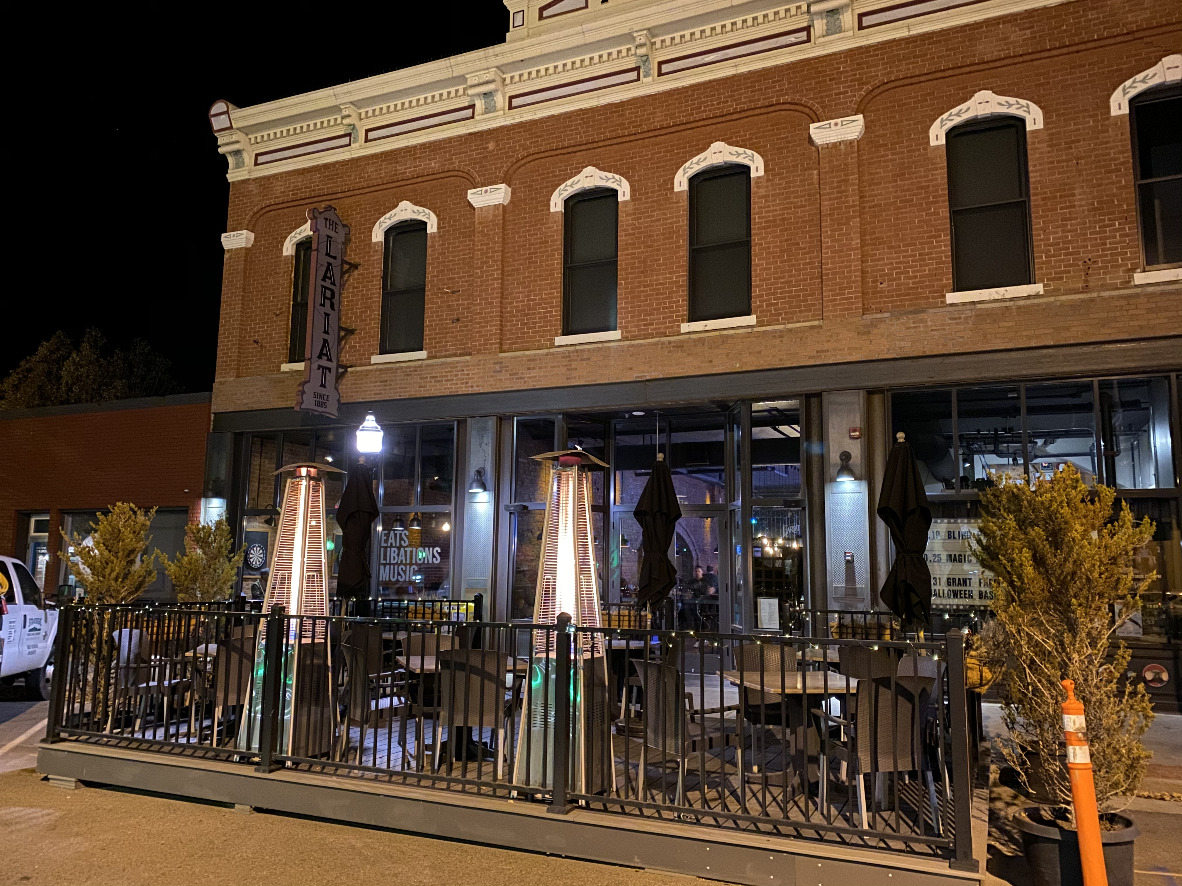 My dinner venue, The Lariat, in downtown Buena Vista, CO.