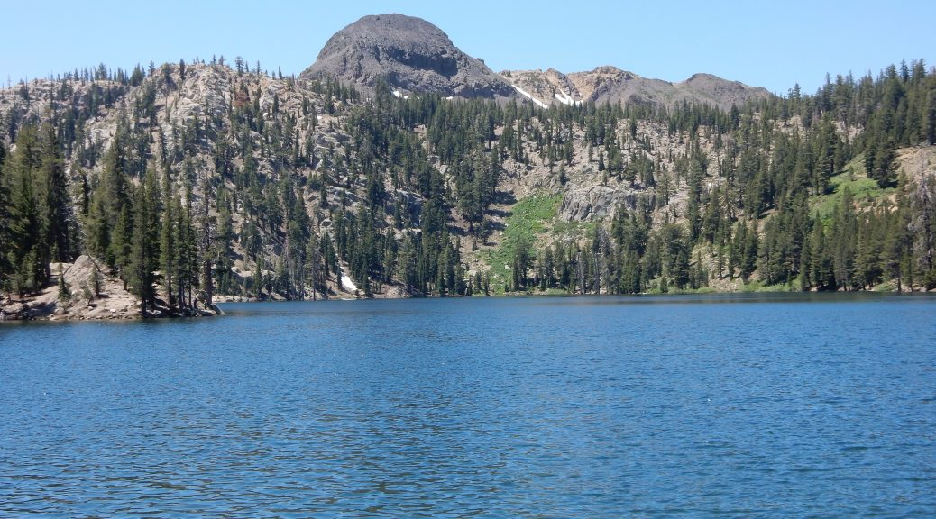 A lake near the summit of Ebbets Pass on CA4 in the Sierra Nevada mountains.