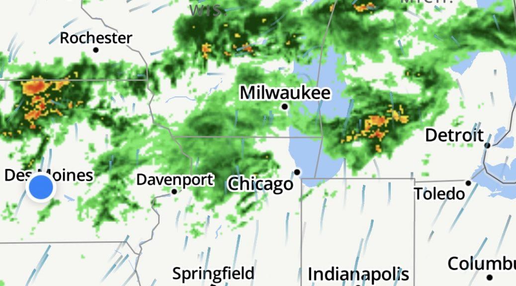 It looks like I'll likely get wet on this ride home, unless I'm extraordinarily lucky.