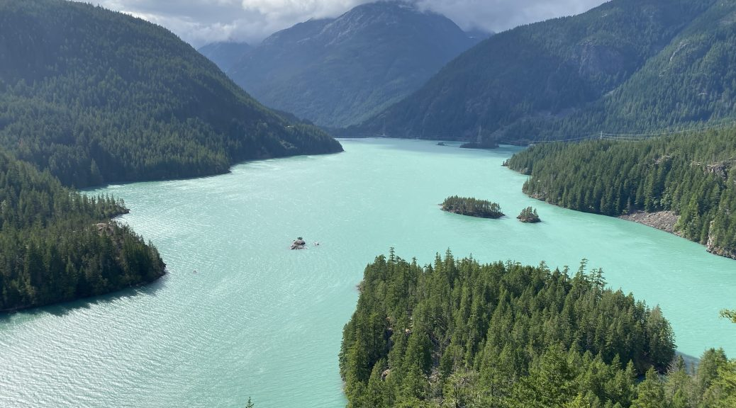 A view of Diablo Lake from the western overlook.