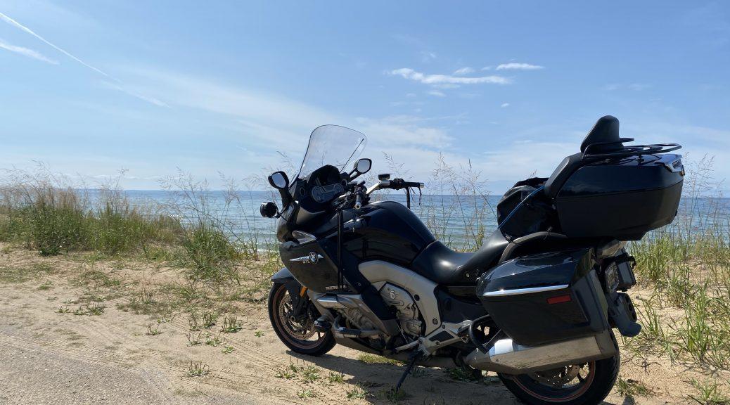 The Nightowl along the Lake Michigan coast on US2 west of St. Ignace.